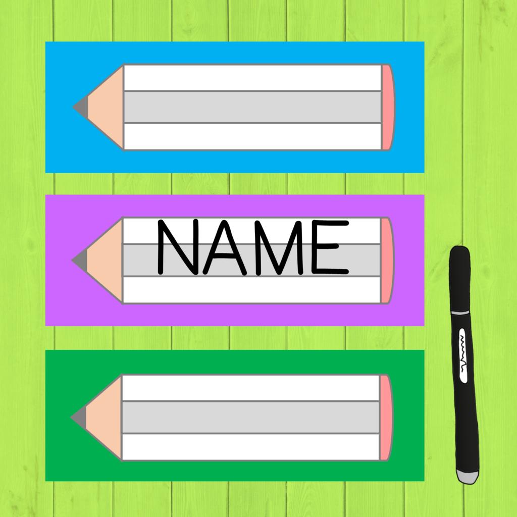 Namensschilder Mit Stiften In 2020 Namensschilder Namensschilder Basteln Grundschule