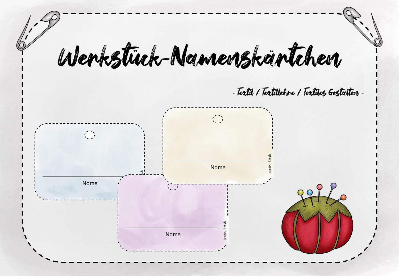 Werkstuck Namensschilder Unterrichtsmaterial Im Fach Kunst Namensschilder Unterrichtsmaterial Kunst Grundschule