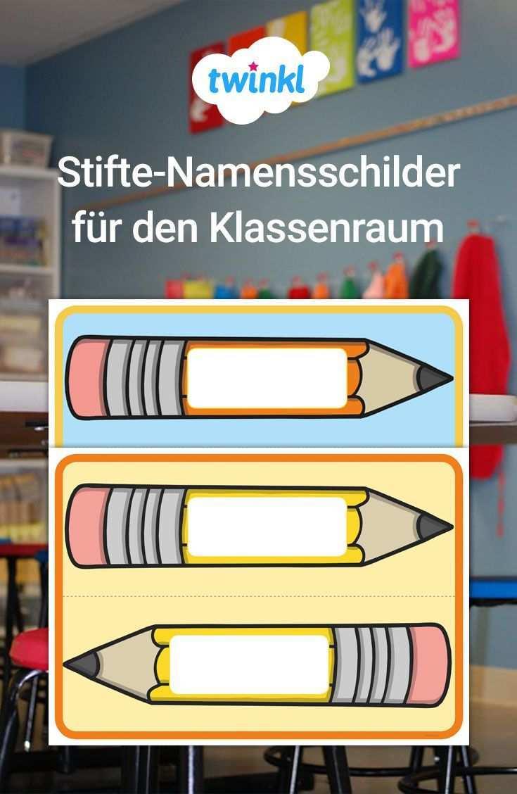 Praktische Namensschilder Fur Ihren Klassenraum Grundschulmaterial Namensschild Namensschil Erste Klasse Unterricht Ideen Fur Das Klassenzimmer Klassenraum