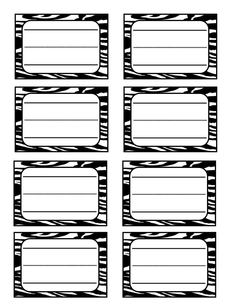 Zebra Print Name Tag Pdf Google Drive Schulideen Grundschule Kunst Fur Kinder