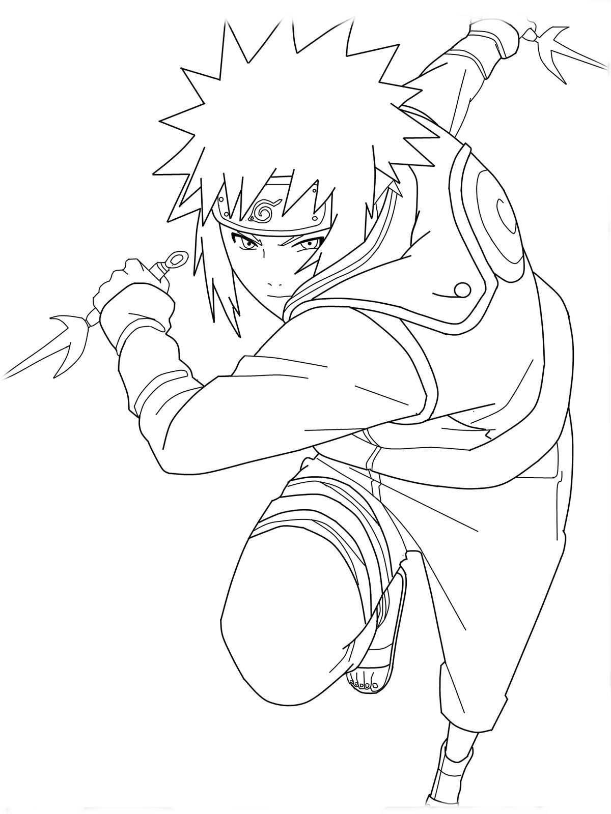 Cartoon Naruto Coloring Pages For Kids Free Coloring Pages For Kids Coloriage Naruto Coloriage Manga Coloriage Dragon Ball