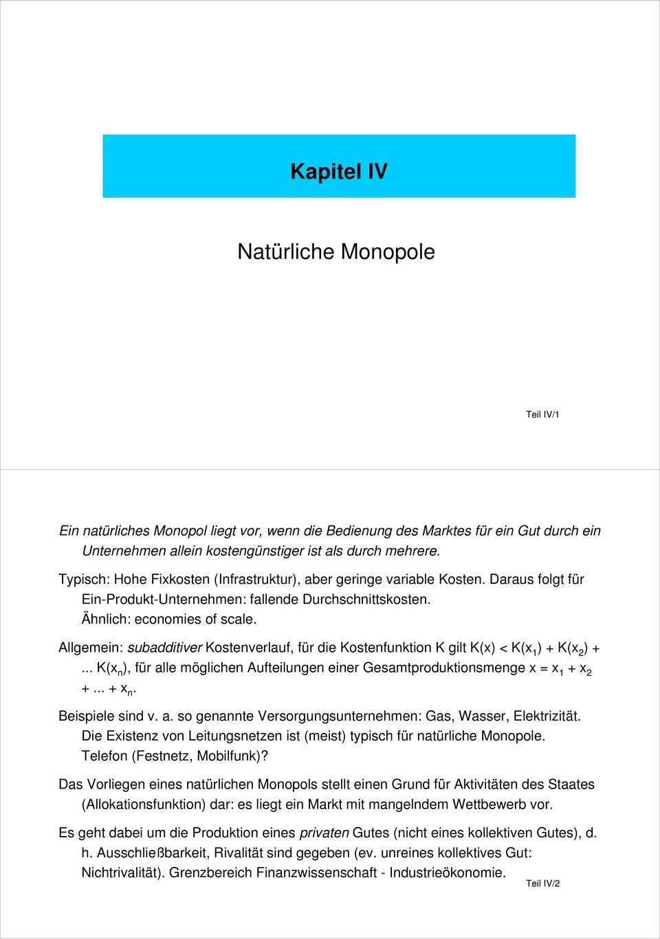 Kapitel Iv Naturliche Monopole Pdf Free Download