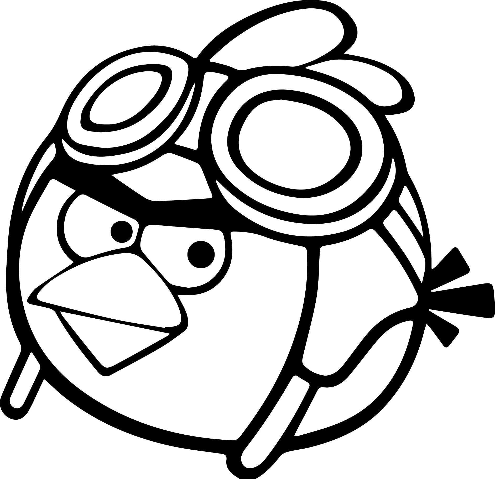 Cool Pilot Angry Birds Coloring Page Bird Coloring Pages Coloring Pages Halloween Coloring Pages