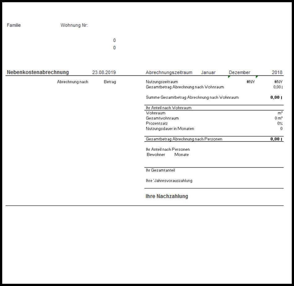 Nebenkostenabrechnung Programm Kostenlos Fur Vermieter