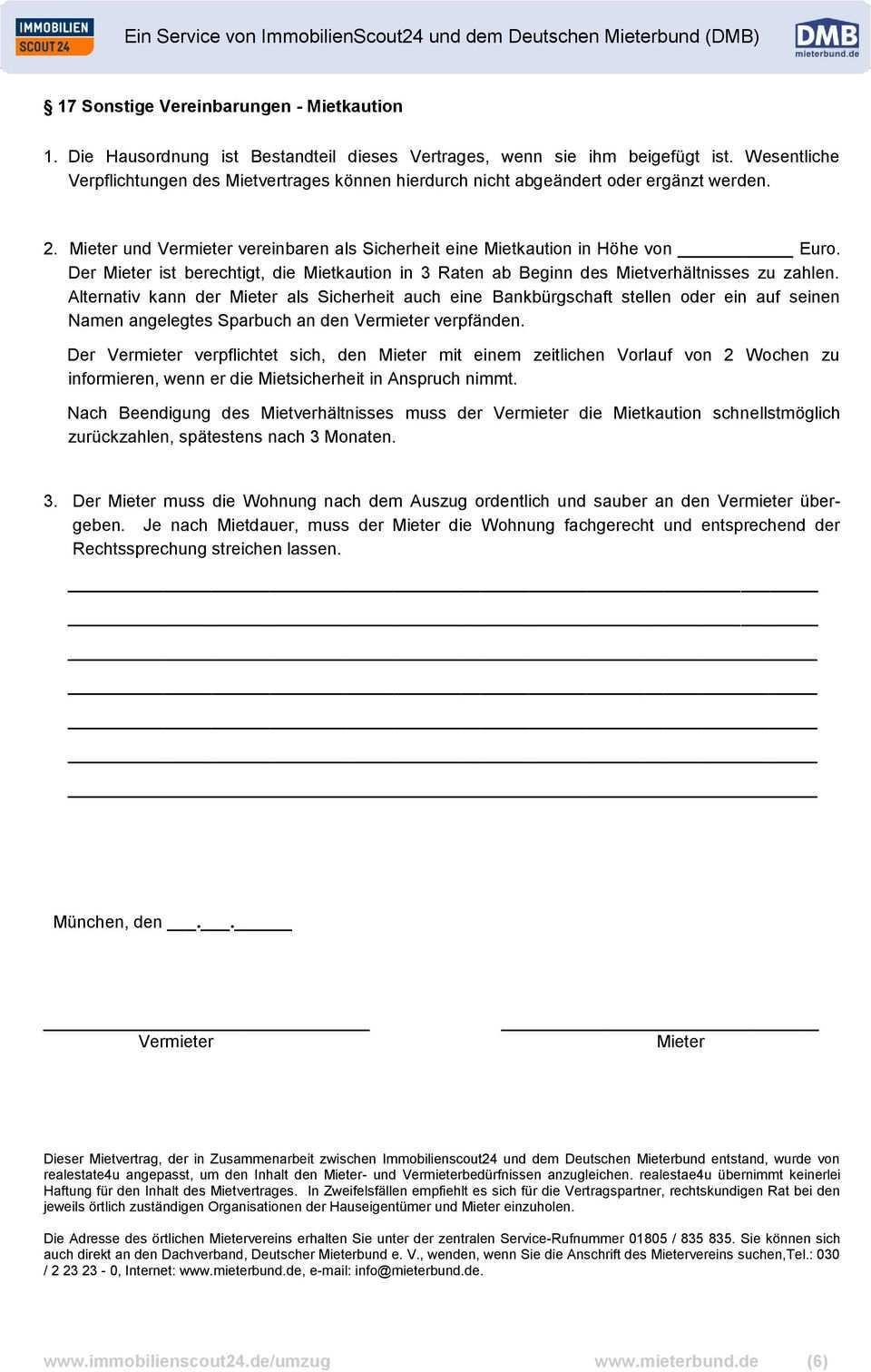 Ein Service Von Immobilienscout24 Und Dem Deutschen Mieterbund Dmb Pdf Kostenfreier Download