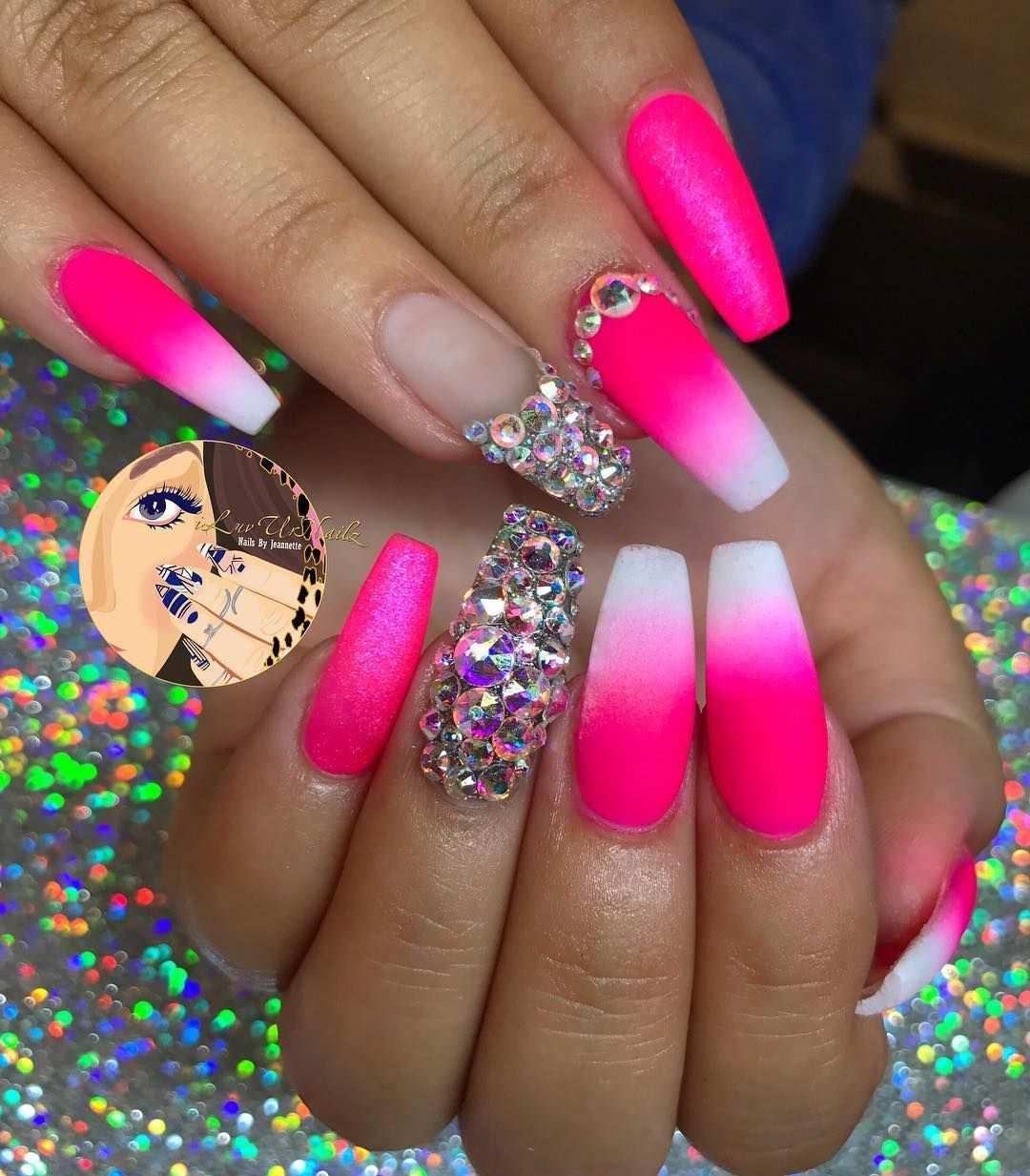 1 640 Likes 22 Comments J E A N N E T T E Iluvurnailz On Instagram Loving This Neon Pink Neon Yellow Pinke Nagel Gelbe Nagel Nageldesign Rosa