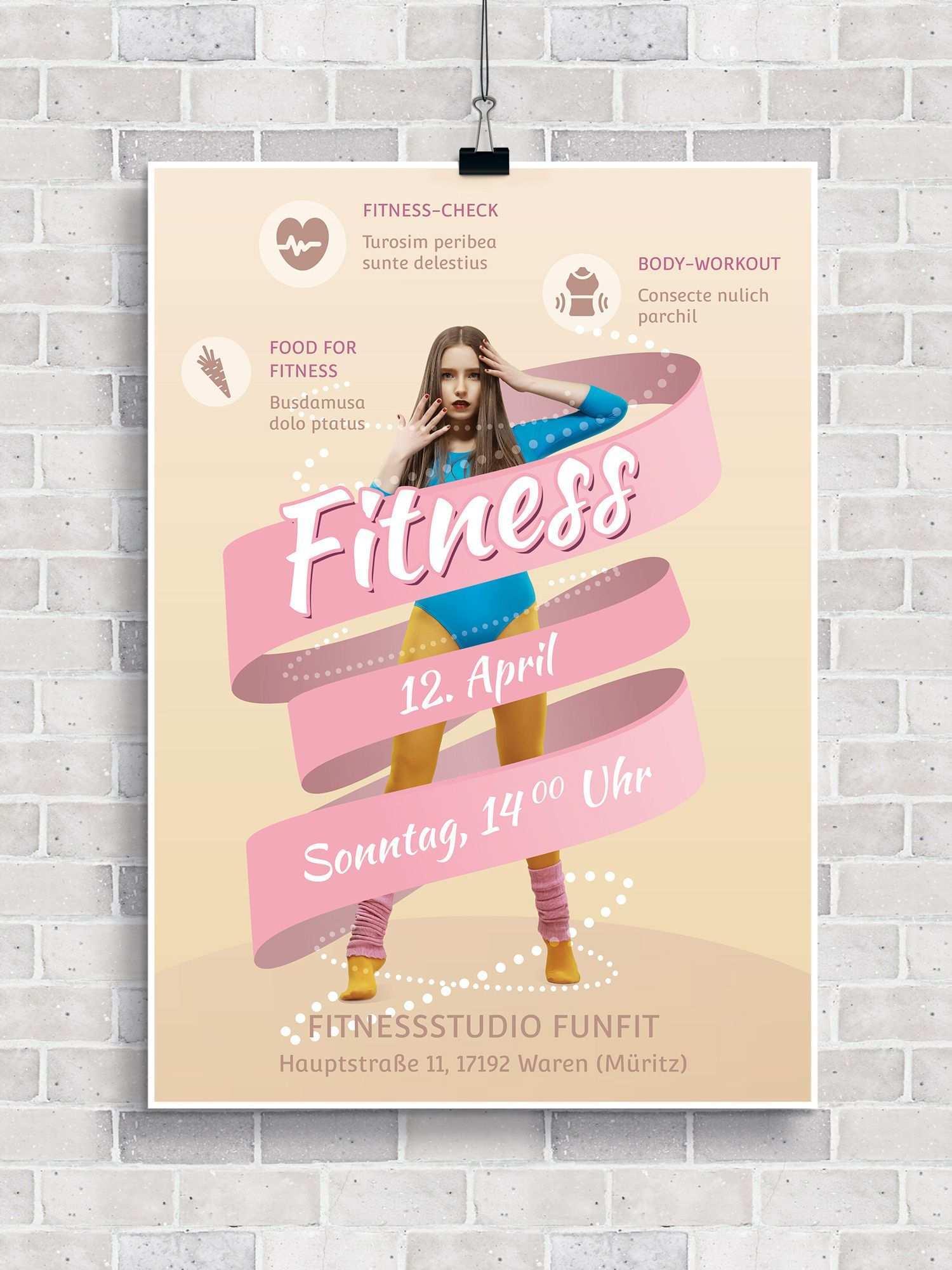 Flyer Vorlagen Fur Fitness Sport Und Fitnessstudios Zum Download Fitnessstudio Fitness Flyer Vorlage