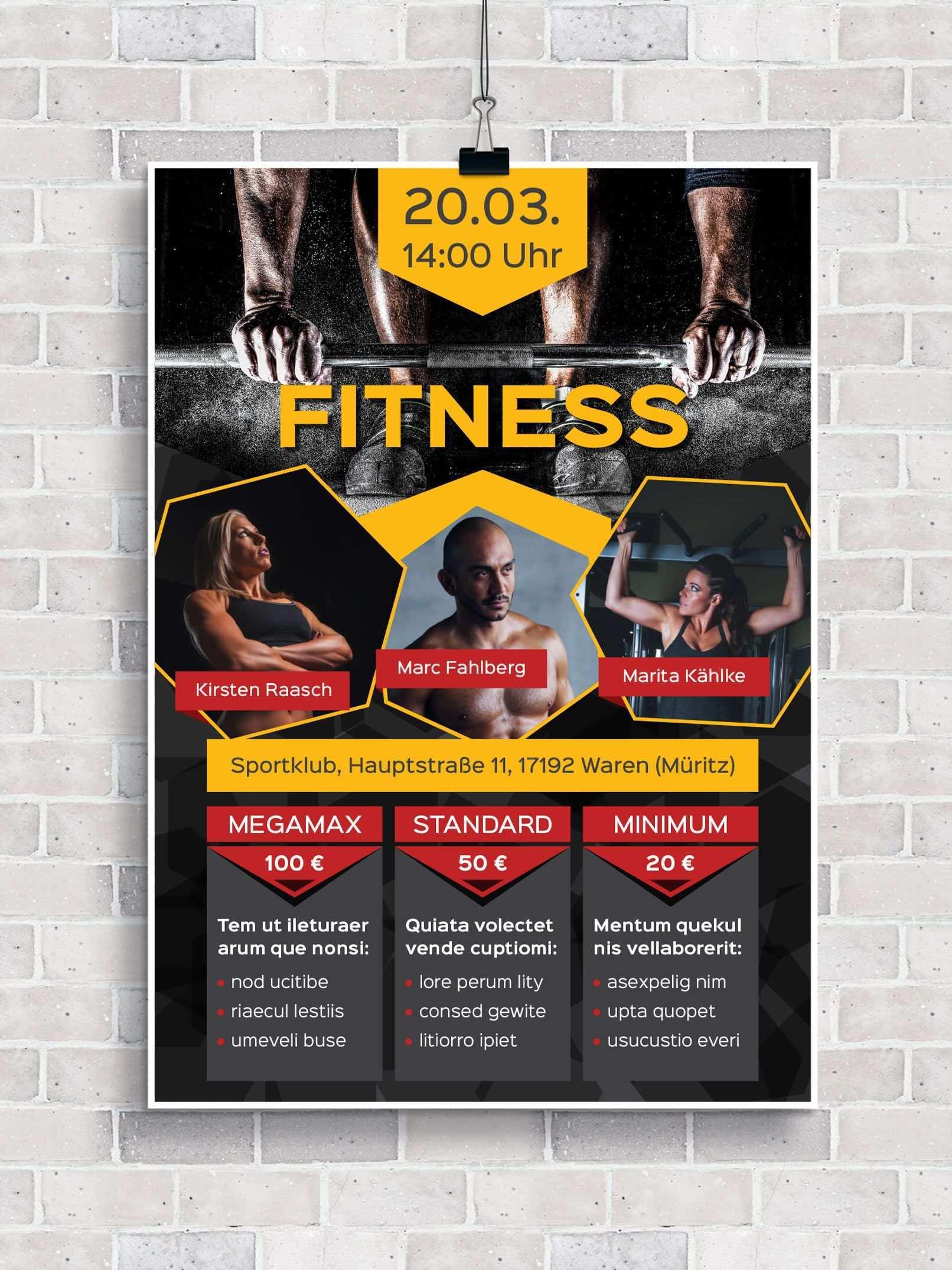 Flyer Vorlagen Fur Fitness Sport Und Fitnessstudios Zum Download Fitnessstudio Fitness Sport Studio