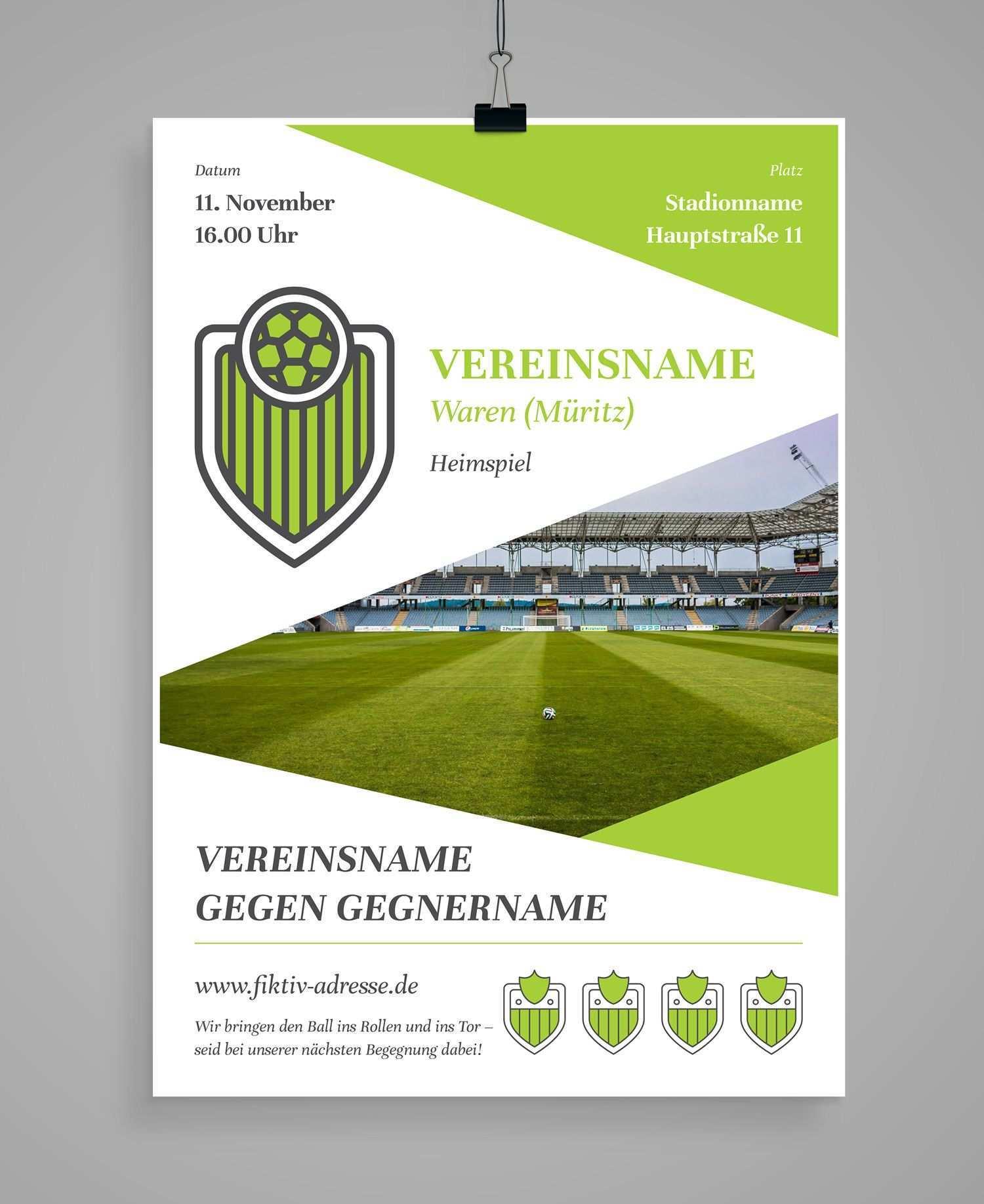 Design Vorlagen Fur Sportvereine Spendenscheck Werbebanner Co Verein Sportverein Flyer Erstellen