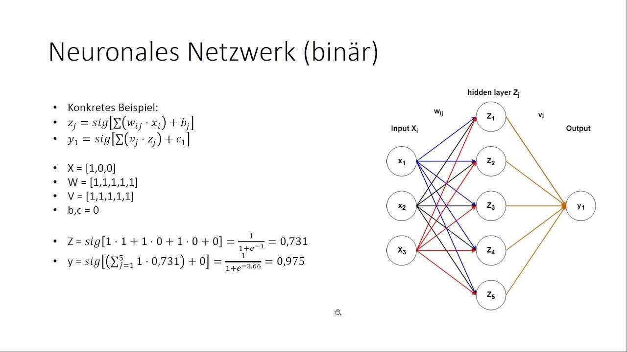 Neuronale Netzwerke Wie Funktioniert Eine Vorhersage 02 Youtube