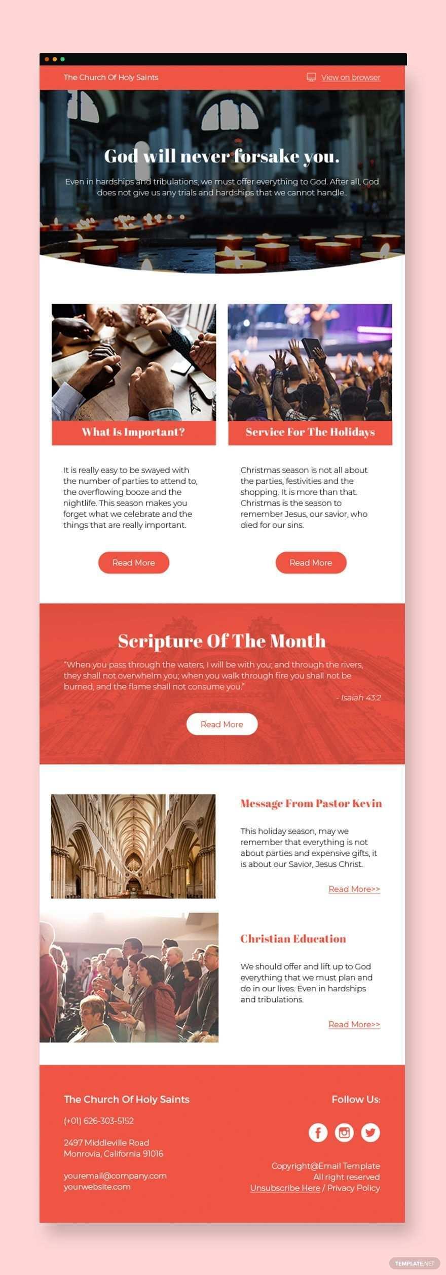 Church Newsletter Template In 2020 Church Newsletter Newsletter Templates Church