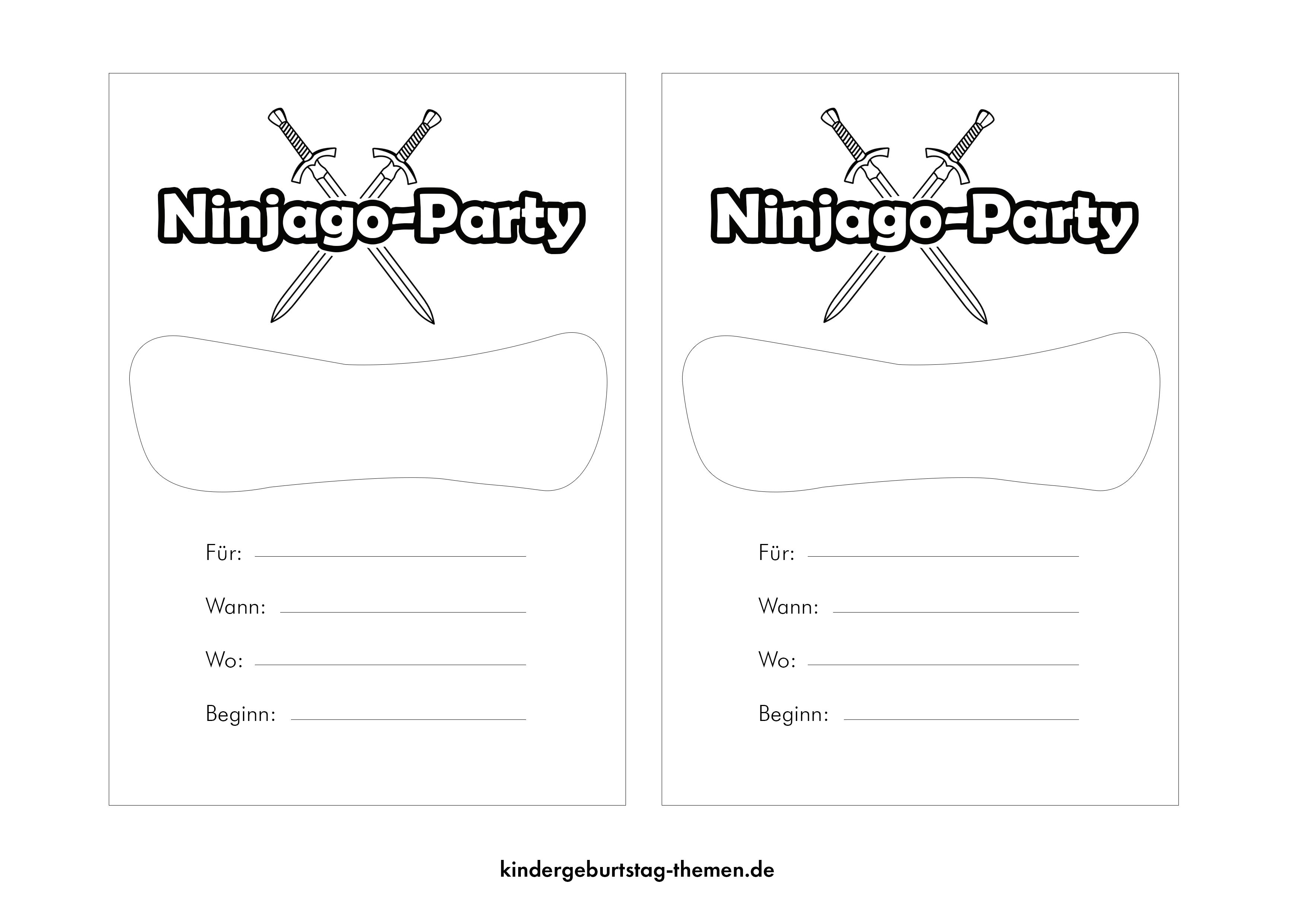 Ninjago Einladungskarten Zum Kindergeburtstag Oder Party Einladungskarten Kindergeburtstag Ninjago Einladungskarten Einladungskarten Zum Ausdrucken