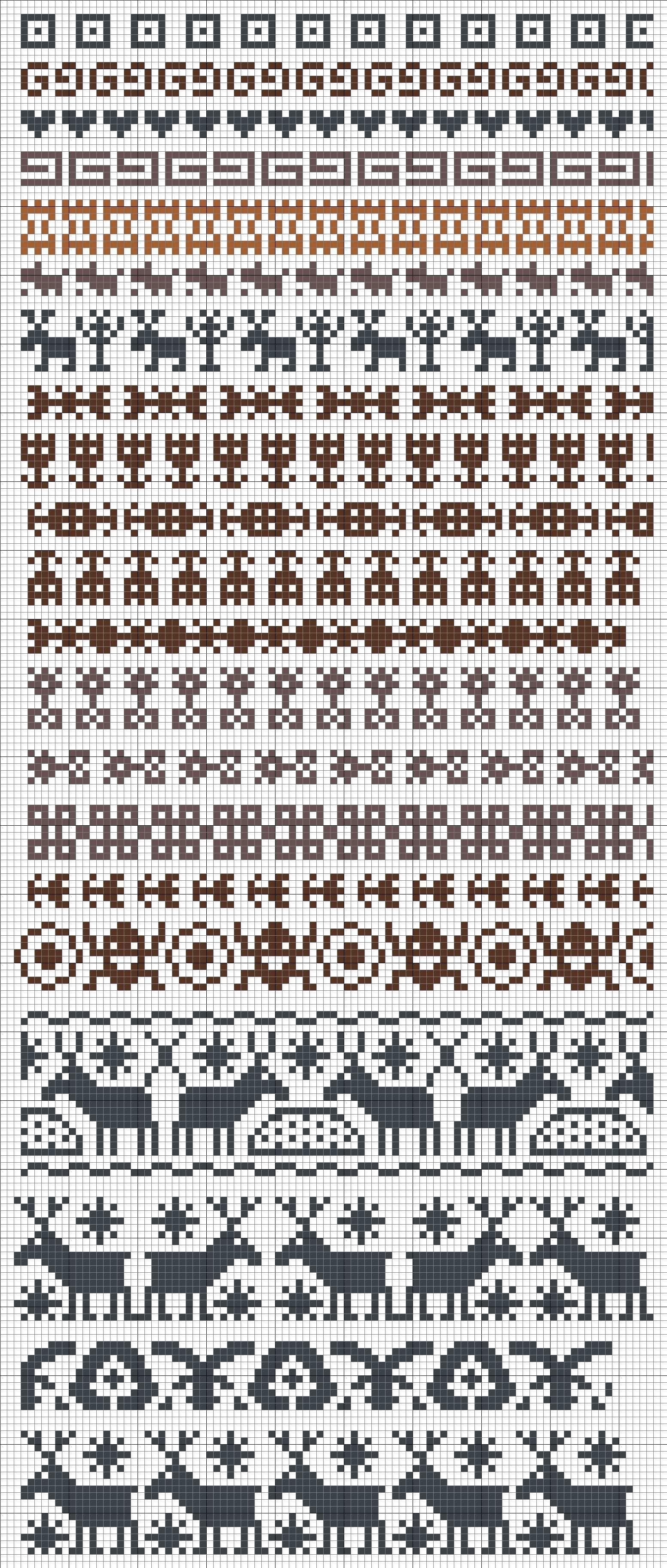 Borduren Haken En Weven Met Kraaltjes Heel Veel Mogelijkheden Met Deze Patroontjes Stickningsmaskor Knitting Pattern Stickning