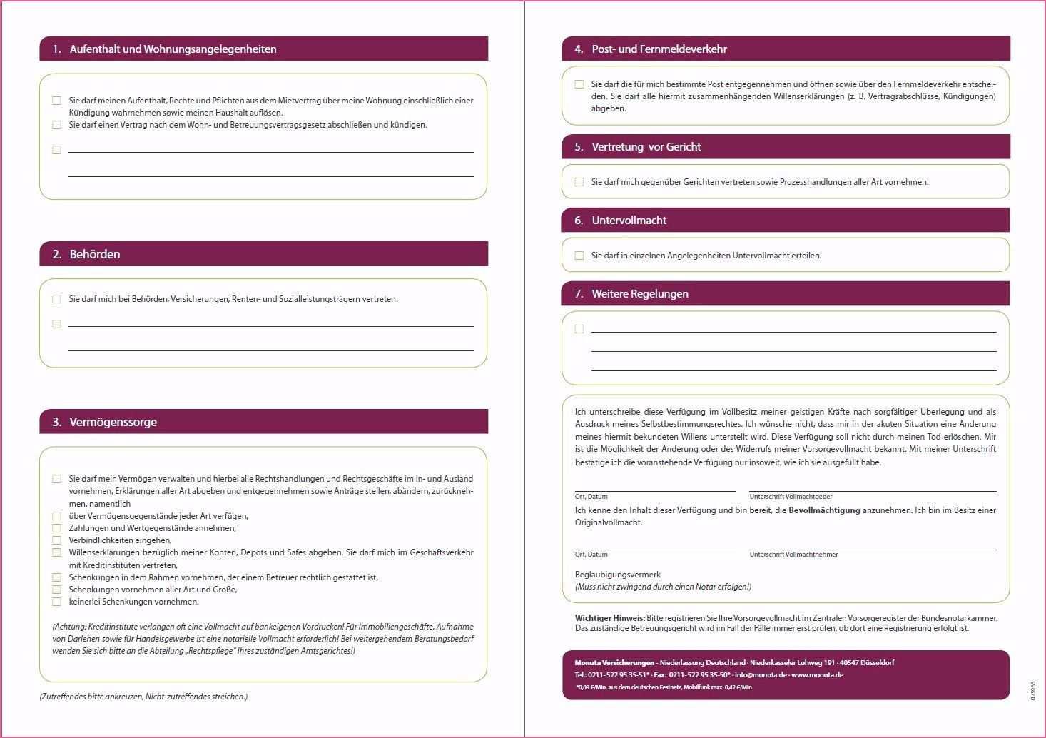 Notarielle Trennungsvereinbarung Muster Trennungsvereinbarung Vollmacht Trennung
