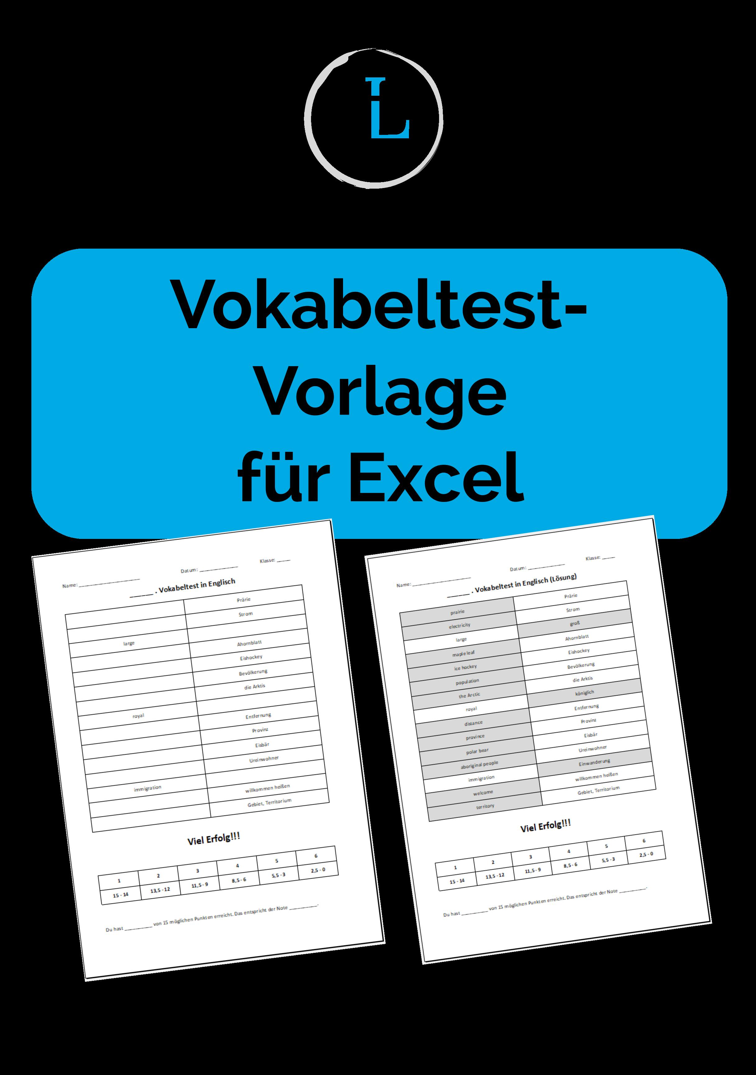 Vokabeltest Vorlage Fur Excel Unterrichtsmaterial Im Fach Fachubergreifendes Vokabeln Vorlagen Lehrer
