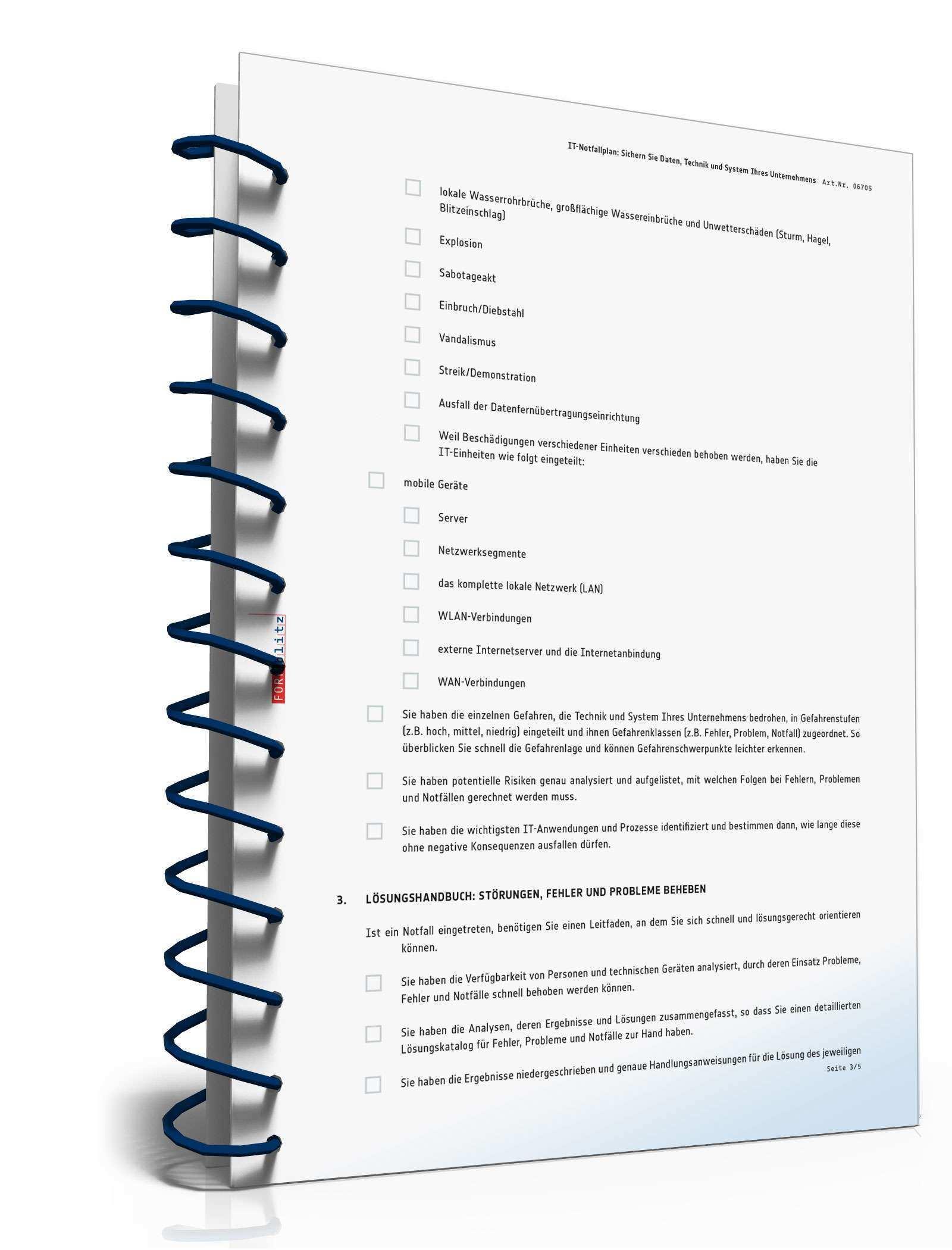Checkliste It Notfallplan Muster Zum Download