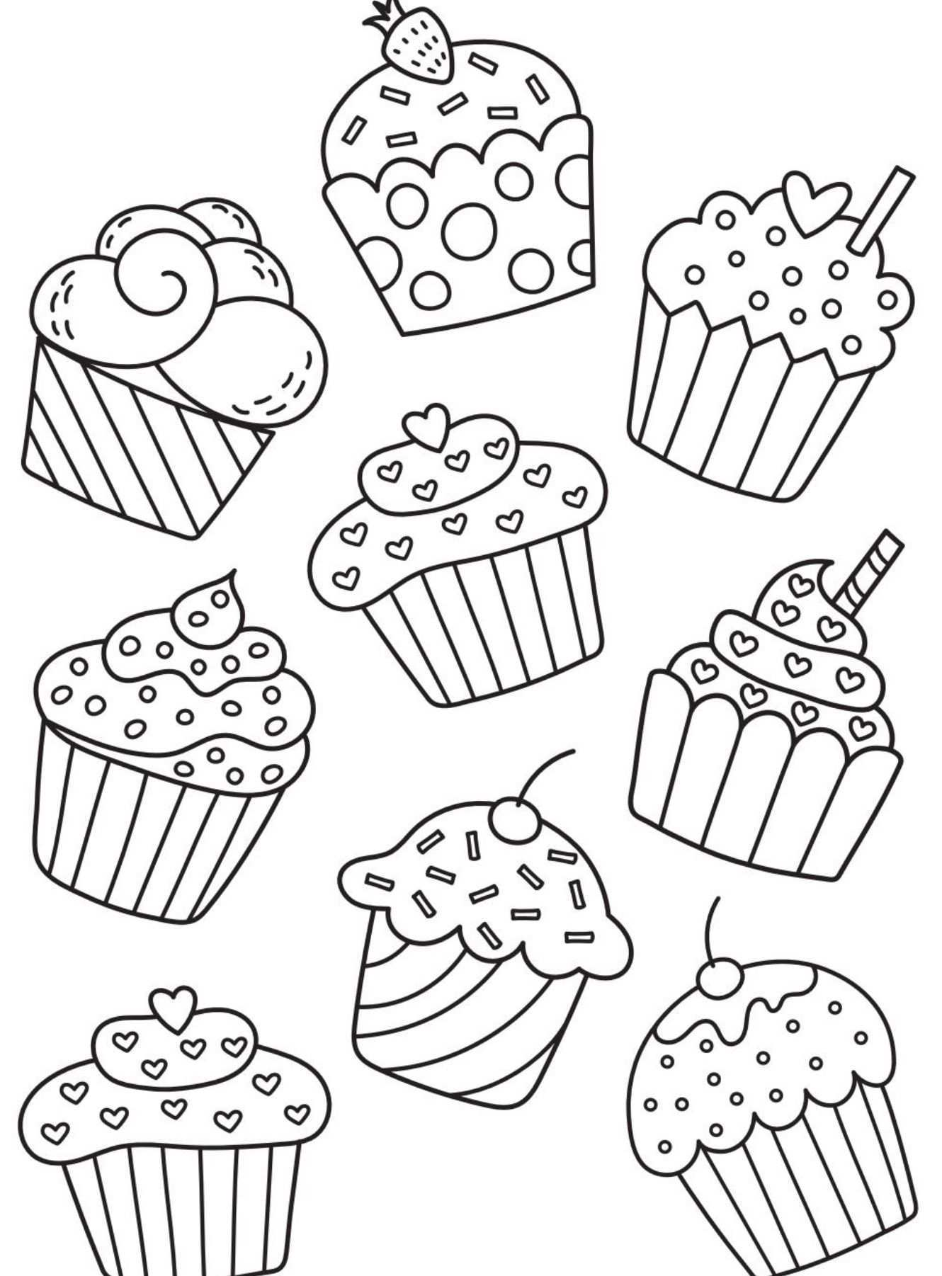 Birthday Chart Cupcake Coloring Pages Coloring Pages Coloring Books