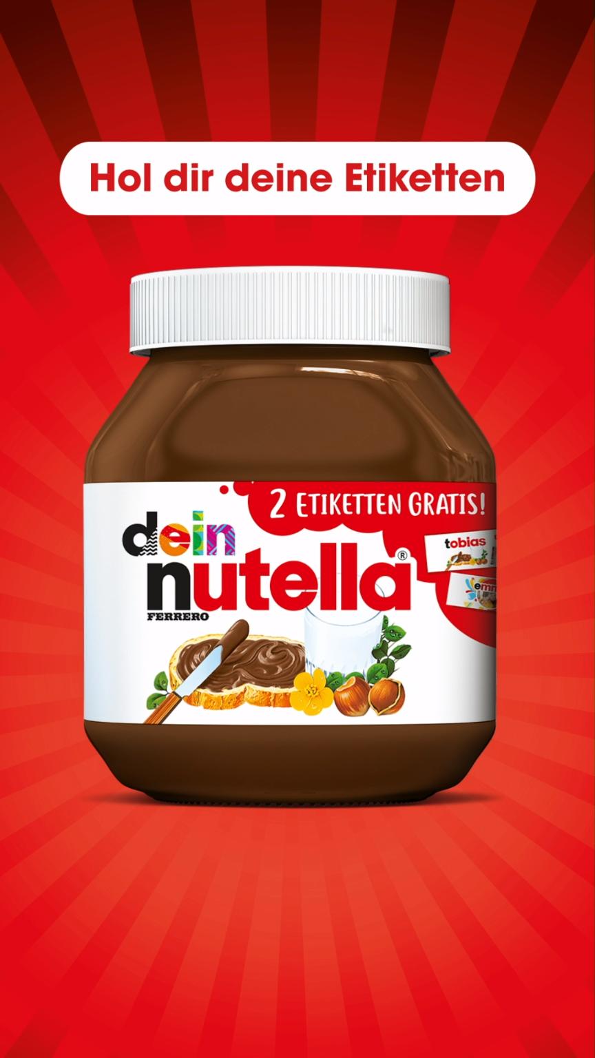Dein Name Dein Design Dein Foto Jetzt Im Handel Und So Personlich Wie Nie Video Nutella Etikett Nutella Nutellaglas