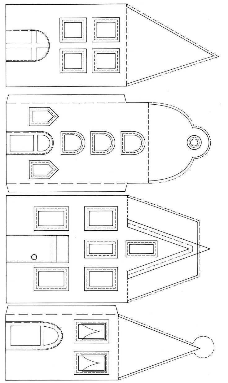 Haus Aus Karton Basteln Anleitung Elegant Falten Vorlage Throughout Paper House Template Glitter House Paint House Template