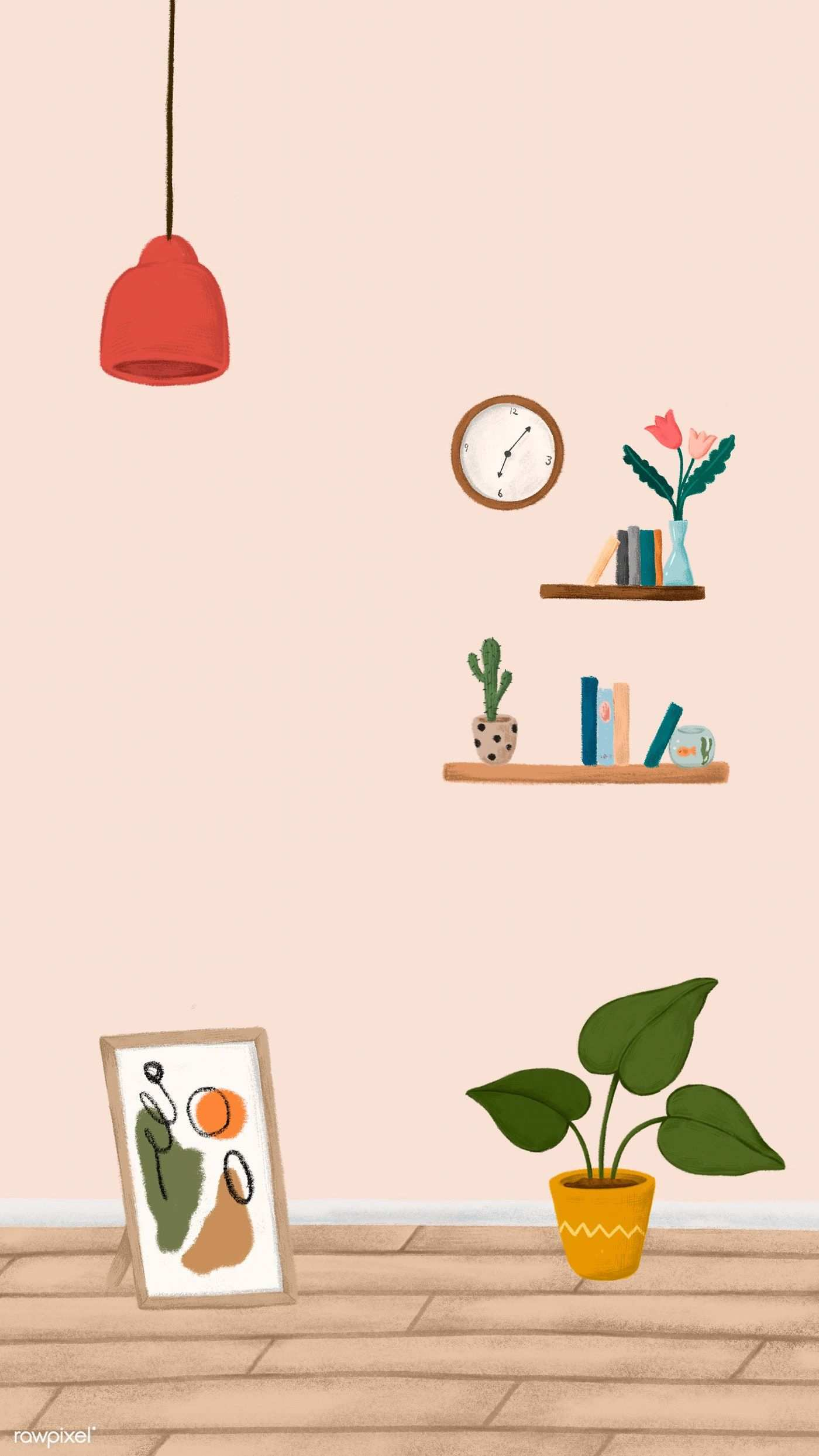 House Interior Mobile Phone Wallpaper Sketch Style Vector Premium Image By Rawpixel Com Noon Phone Wallpaper Wallpaper Art Wallpaper
