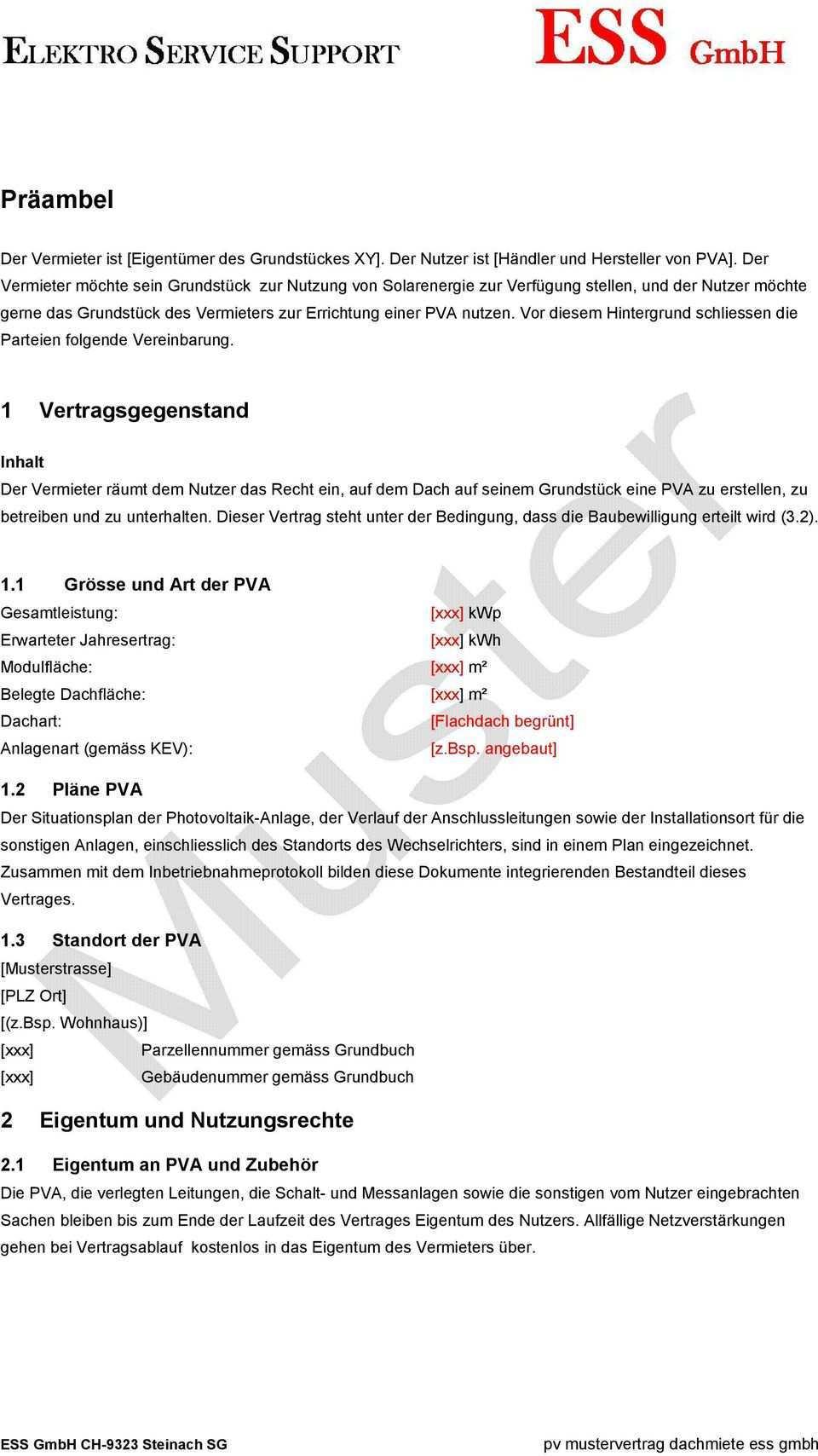Vertrag Fur Dachnutzung Zum Betrieb Einer Photovoltaikanlage Pdf Free Download