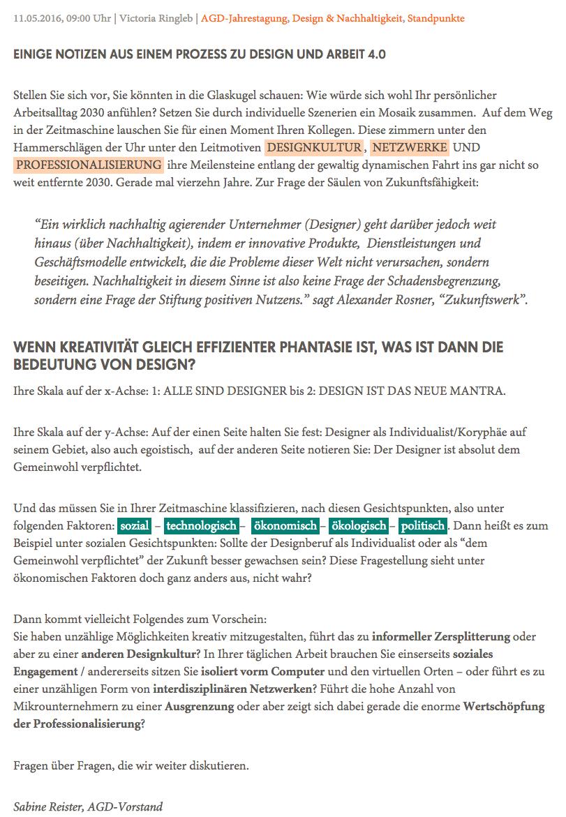 Thinktank Design 2030 Zukunft Immer Wieder Anders Agd Allianz Deutscher Designer Design Glaskugel Arbeitsalltag