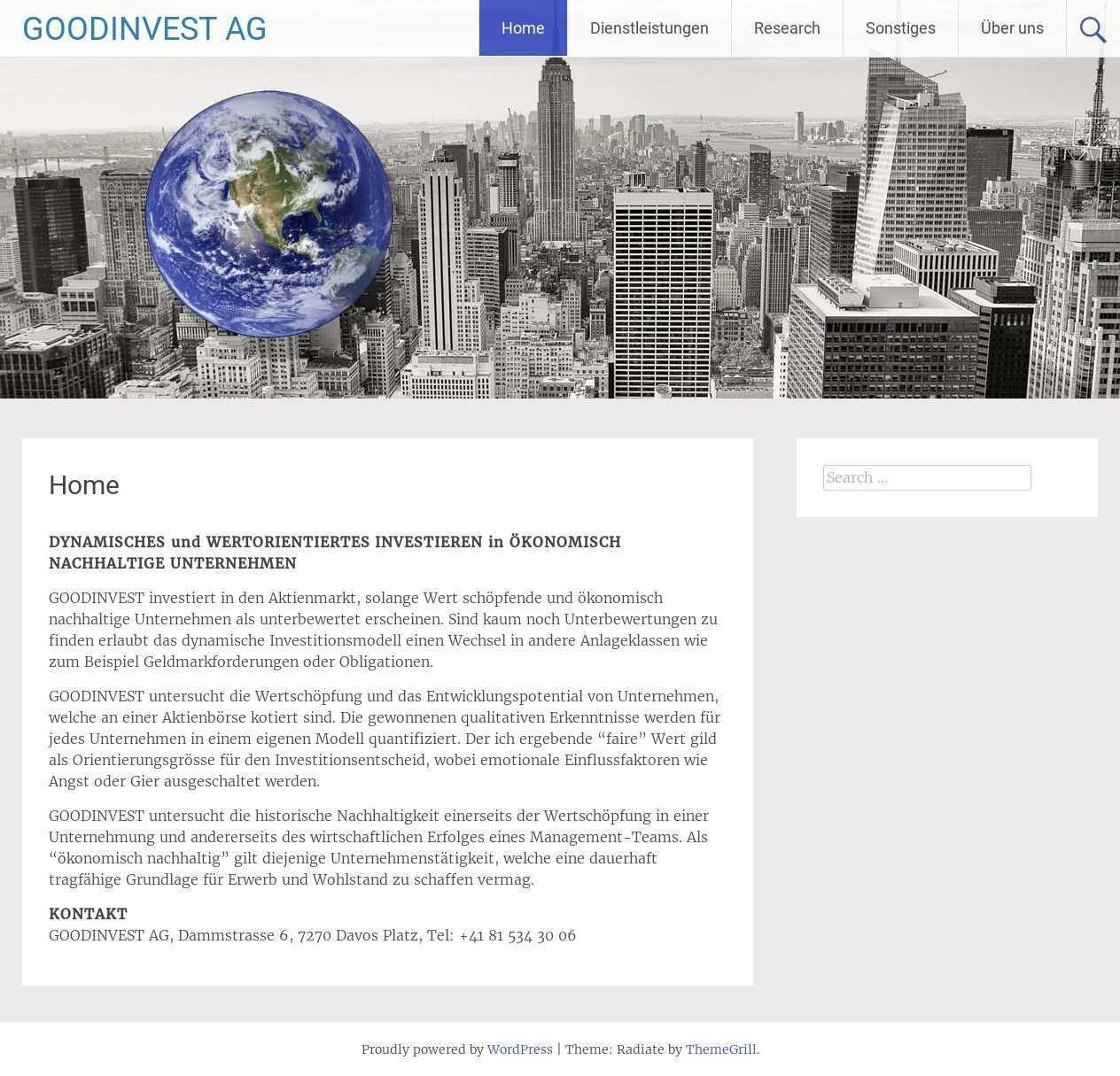 Template Wordpress Radiate By Themegrill Goodinvest Com Wordpress Template Wordpress Wordpress Theme