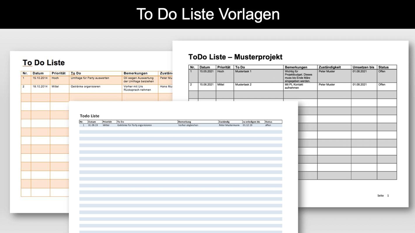 To Do Liste Vorlage Word Excel Kostenlos Downloaden