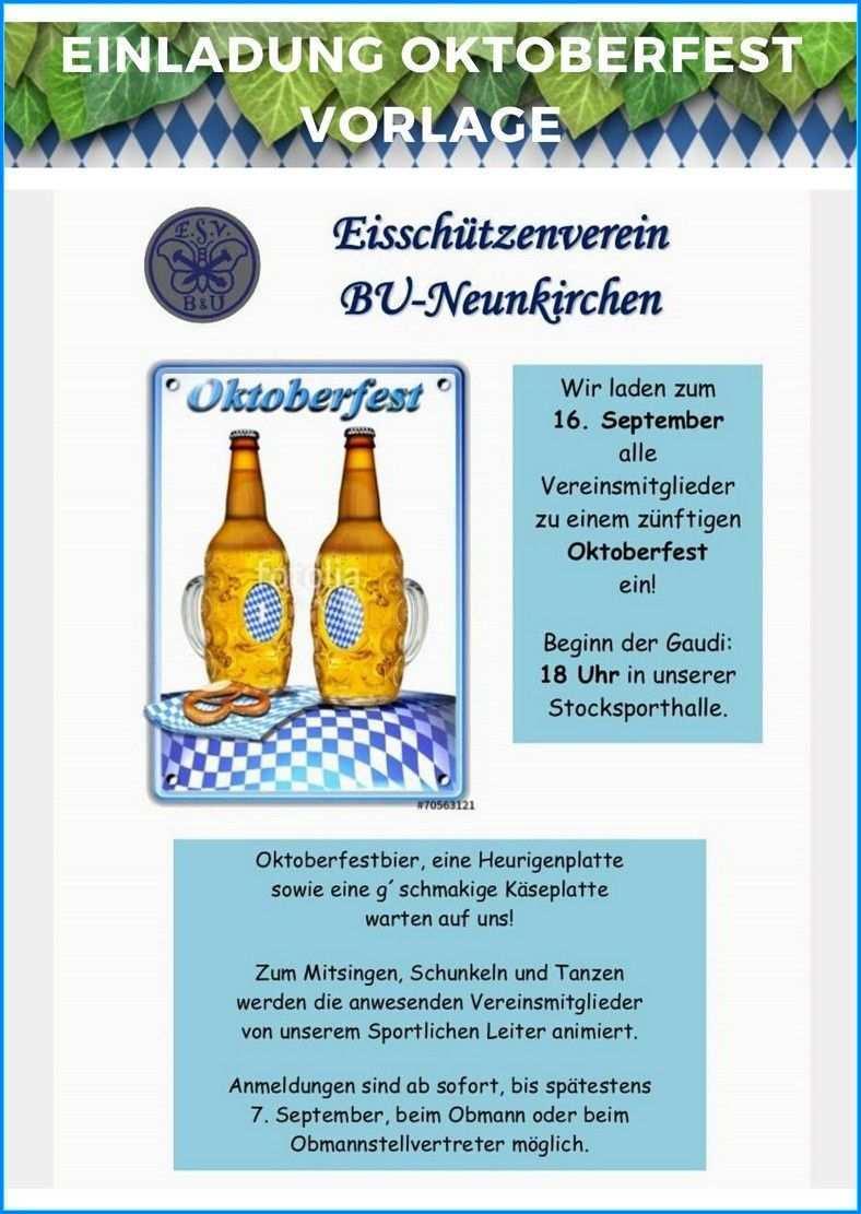 11 Einladung Oktoberfest Vorlage Einzigartiges Und Attraktives Design Oktoberfest Fest Bierzelt