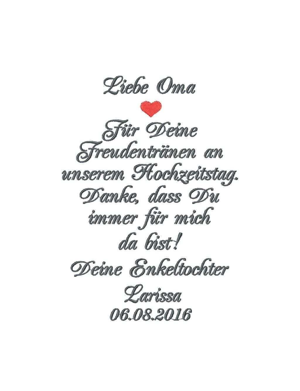 Besticktes Taschentuch Oma Oder Opa Der Braut Mazunikate Taschentucher Braut Besticken