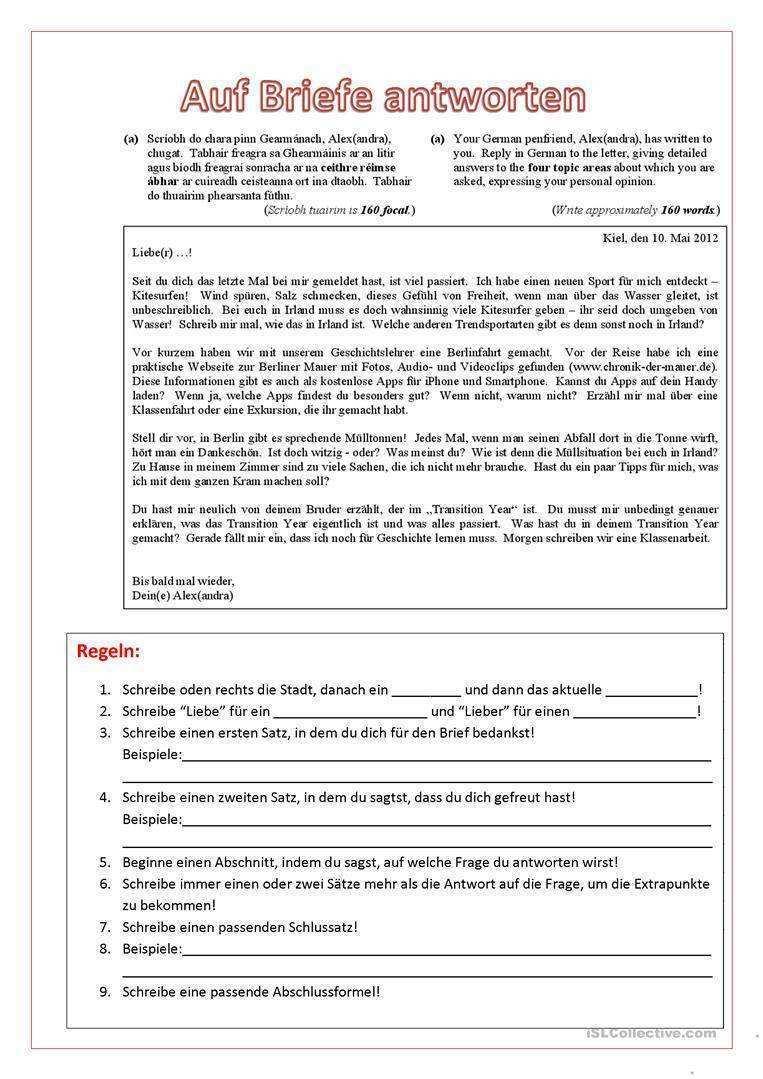 15 Brief Schreiben Beispiel Freund Chartersnovaair Com