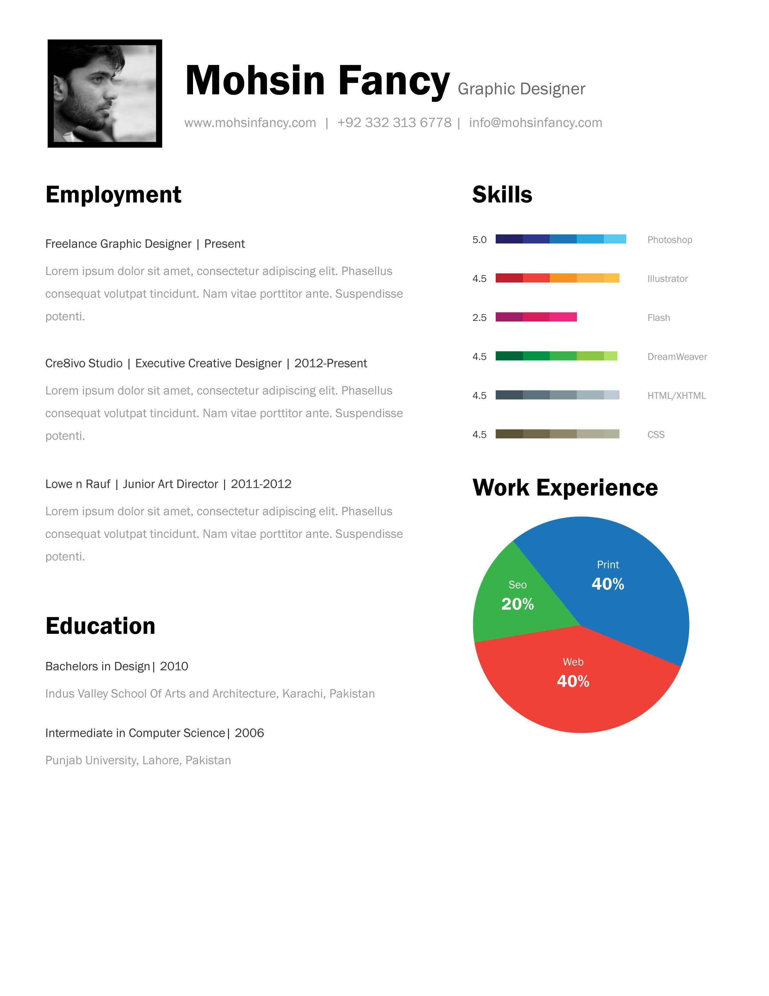 One Page Resume Template Free Download One Page Resume Template Resume Template Free Best Resume Template