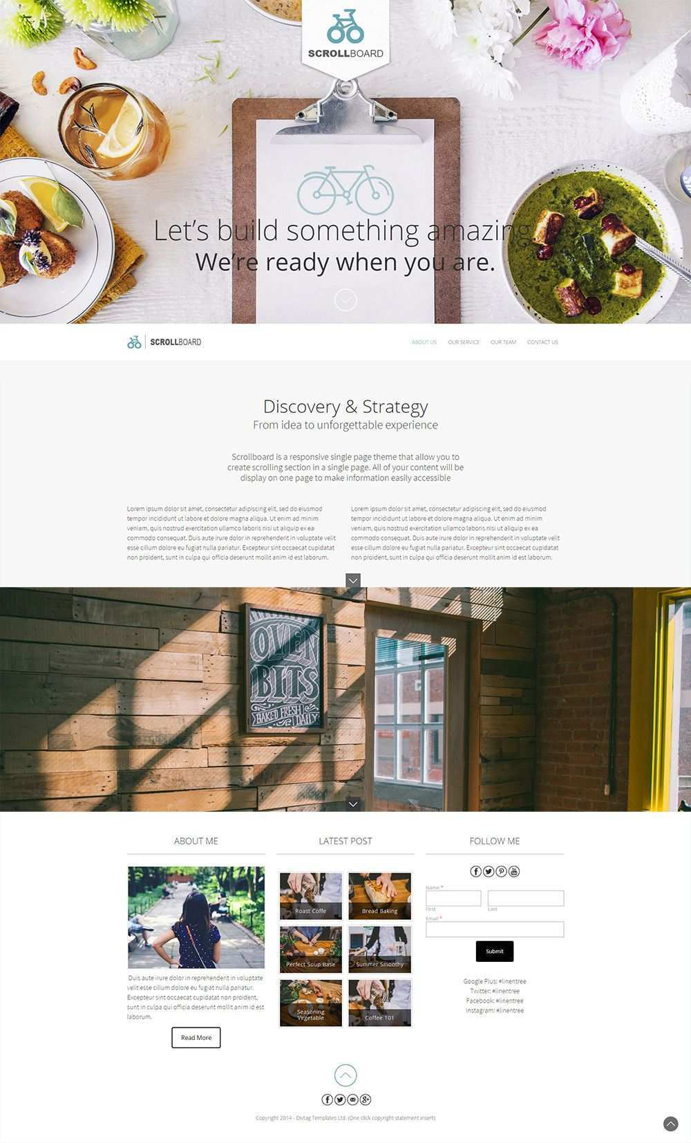 Weebly One Pager Template Theme Scrollboard Weebly Template Weebly Themes Weebly