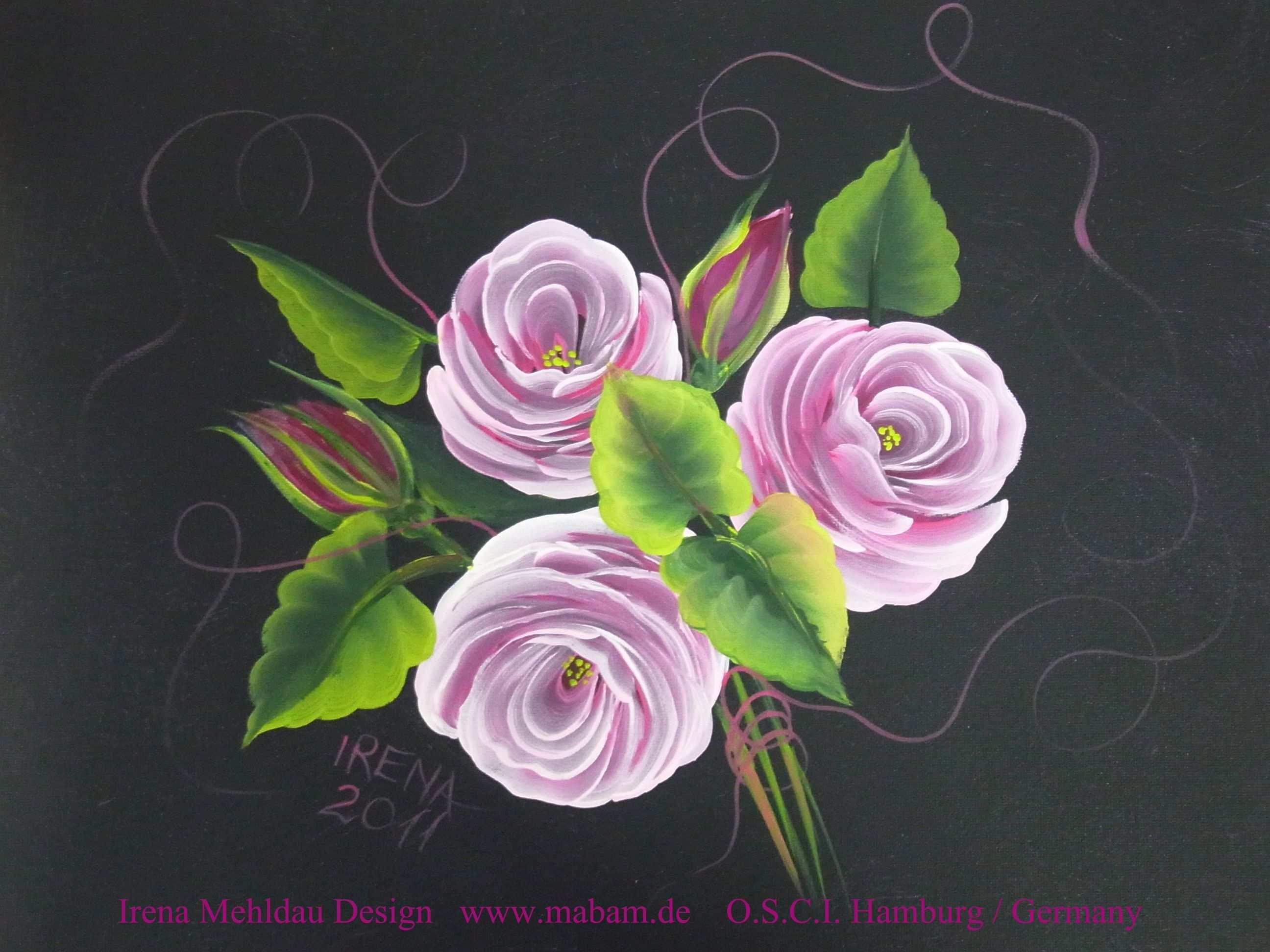 Meine Lieblingsrose Blumen Kunst Blumen Gemalde Rose Malen