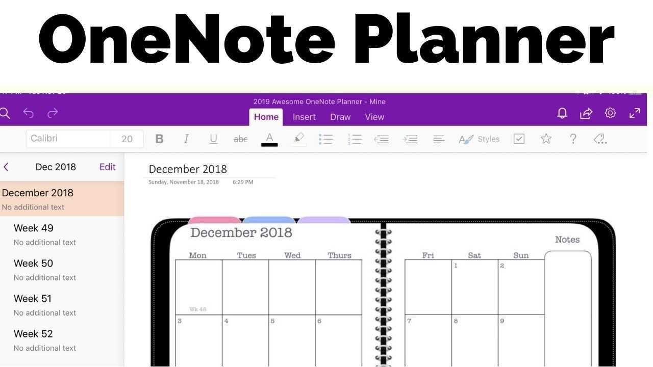 Onenote Planner The Awesome Planner For Microsoft Onenote One Note Microsoft Onenote Template Bullet Journal Onenote