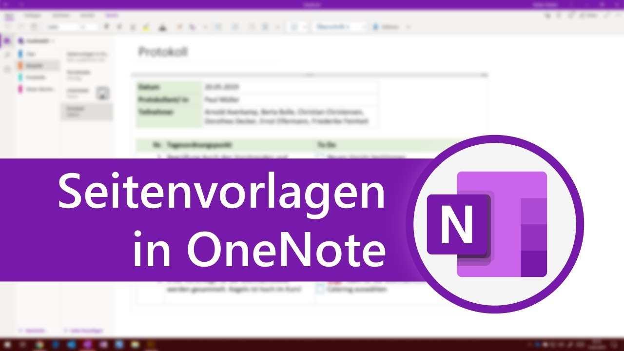 Seitenvorlagen In Onenote Fur Windows 10 Onenote Fur Einsteiger