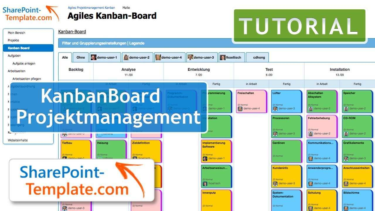 Vorstellung Des Agilen Kanban Boards Mit Unserem Projektmanagement Fur Sharepoint Youtube