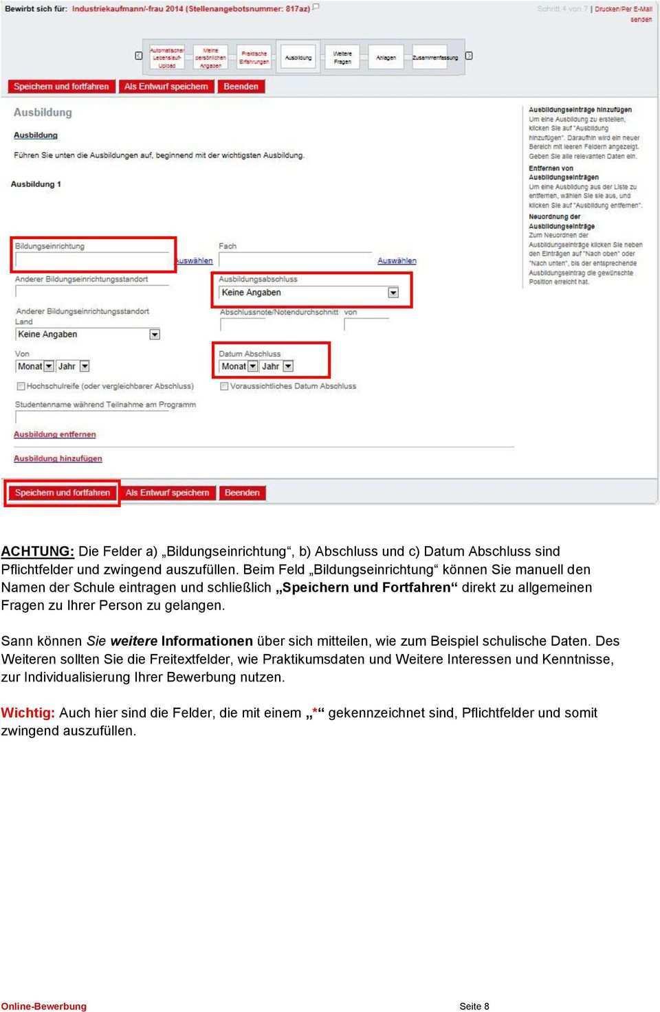 Benutzerhandbuch Online Bewerbung Henkel Ausbildung Pdf Free Download