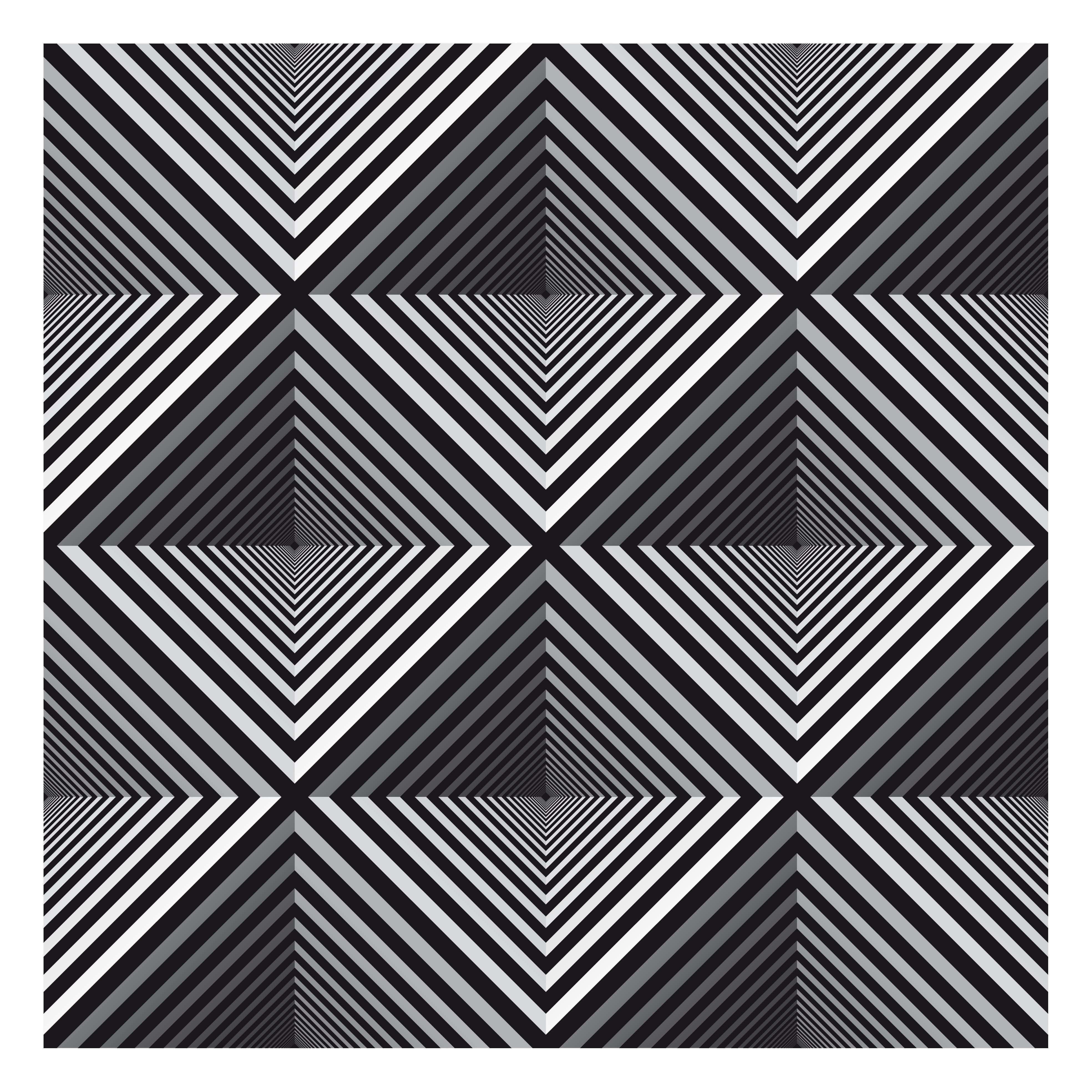 Four Hollow Pyramids Optik Illuzyon Sanati Optik Yanilsama Iluzyonlar
