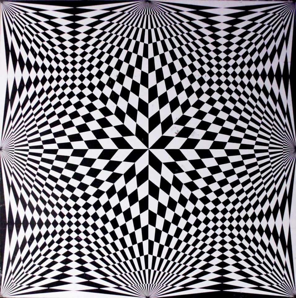 Guy Pouppez De Kettenis De Hollaeken Is A Prolific Belgian Optical Artist Whom Career Reach A Pea Coole Optische Tauschungen Illusion Kunst Optische Tauschung