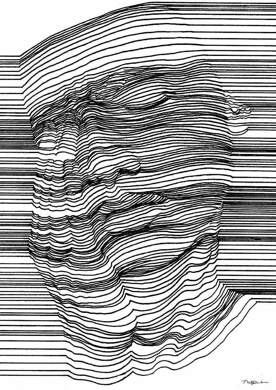 Optische Tauschung Mit 3d Effekt Durch Geschickte Linienfuhrung Klonblog Optische Illusionen Zeichnungen Zeichnung Optische Tauschung Illusion Kunst