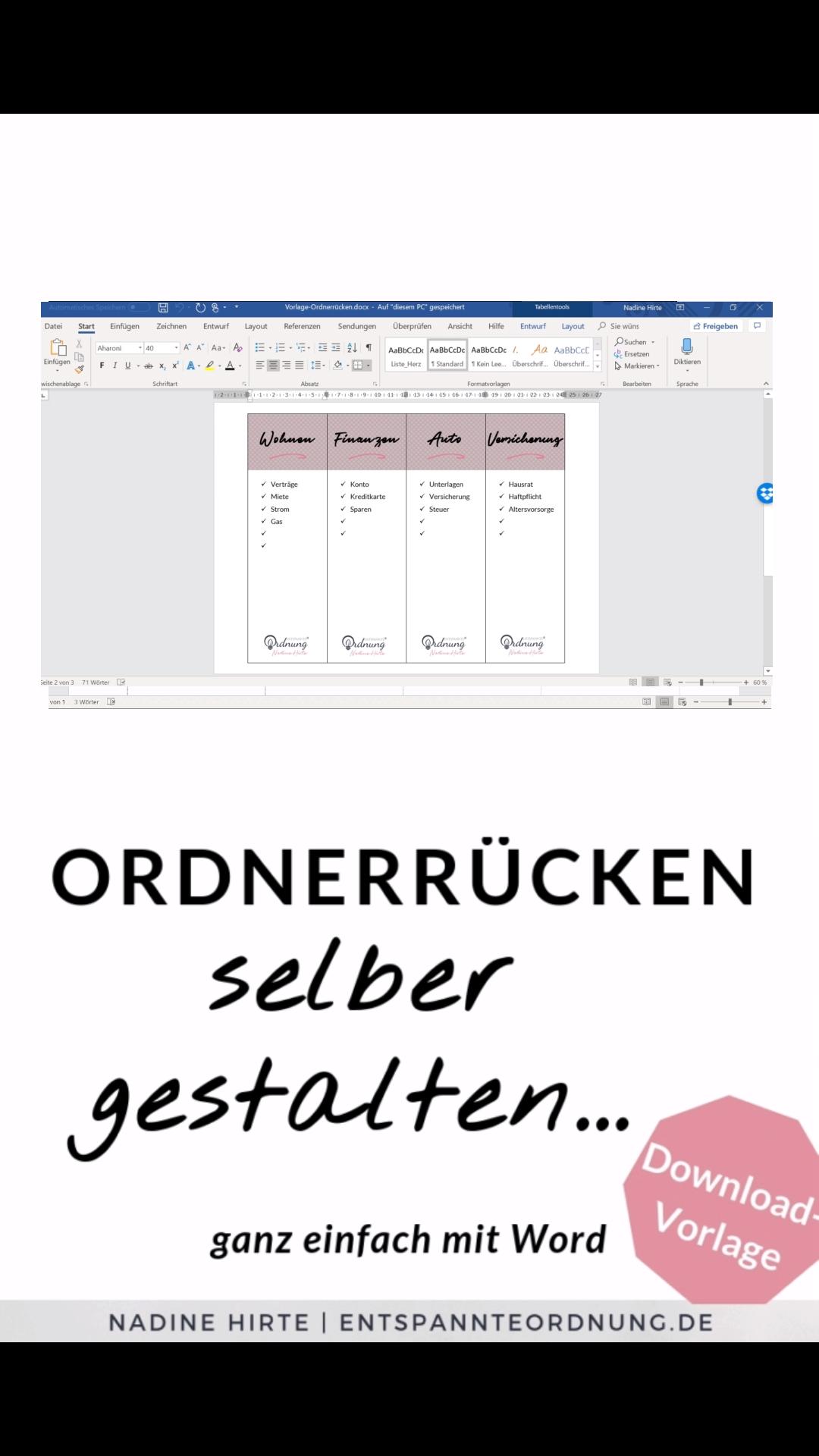 Ordnerrucken Word Kostenlose Vorlage Zum Download Video Video Ordnerrucken Word Ordnerrucken Vorlage Kostenlose Vorlagen