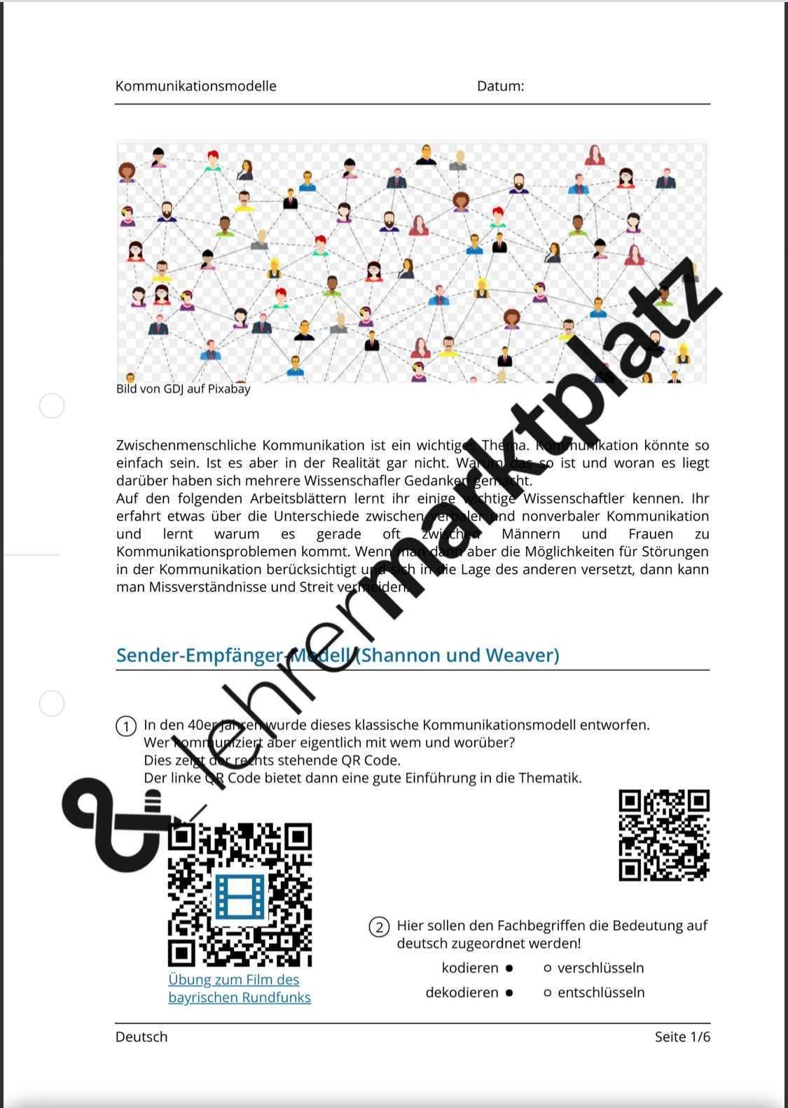 Kommunikationsmodelle Qr Codes Kommunikationsmodelle Kommunikation Zwischenmenschliche Kommunikation