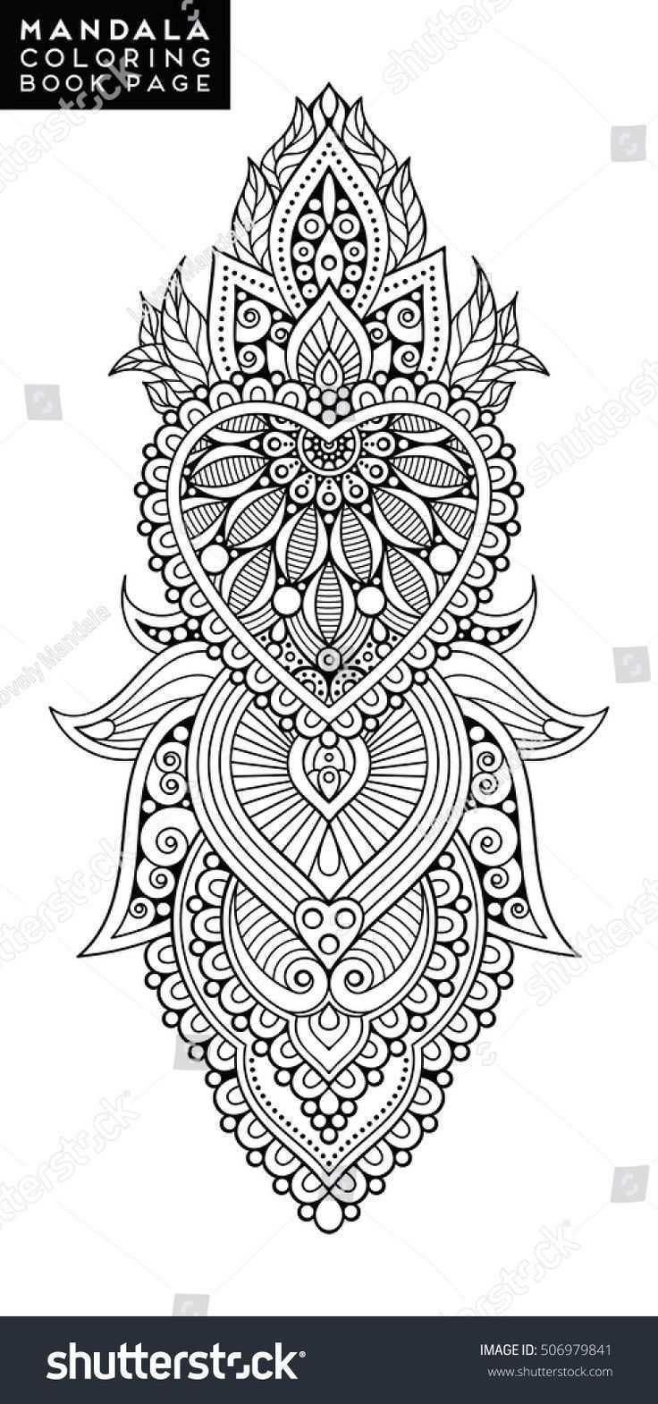 Blumen Mandala Vintage Dekorative Elemente Orientalisches Muster Vektorillustrati 3dt Mandala Coloring Books Mandala Coloring Pages Flower Mandala