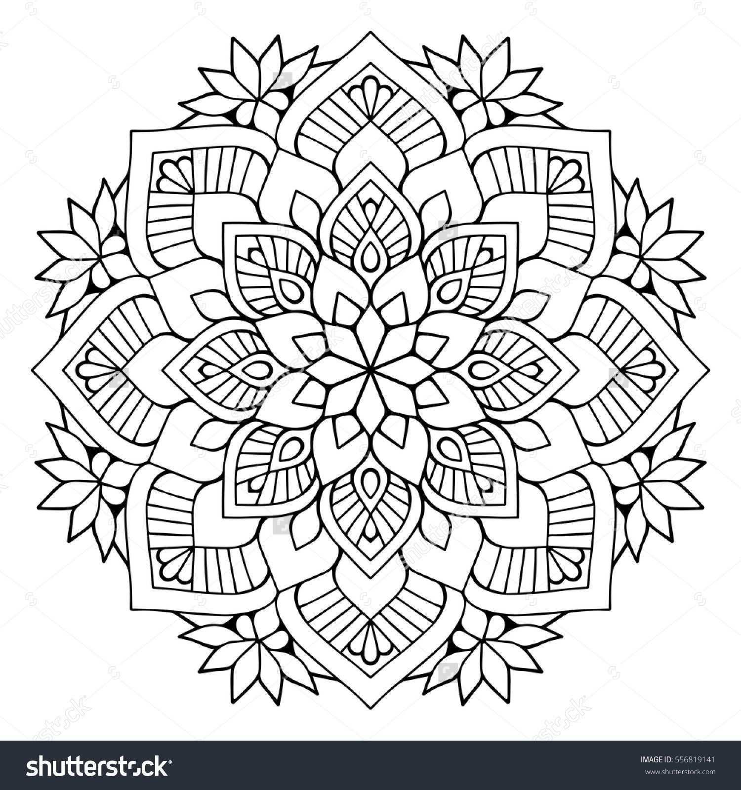 Flower Mandalas Vintage Decorative Elements Oriental Pattern Vector Illustration Islam Arabic Indian Turki Mandala Malvorlagen Mandala Ausmalen Mandalas