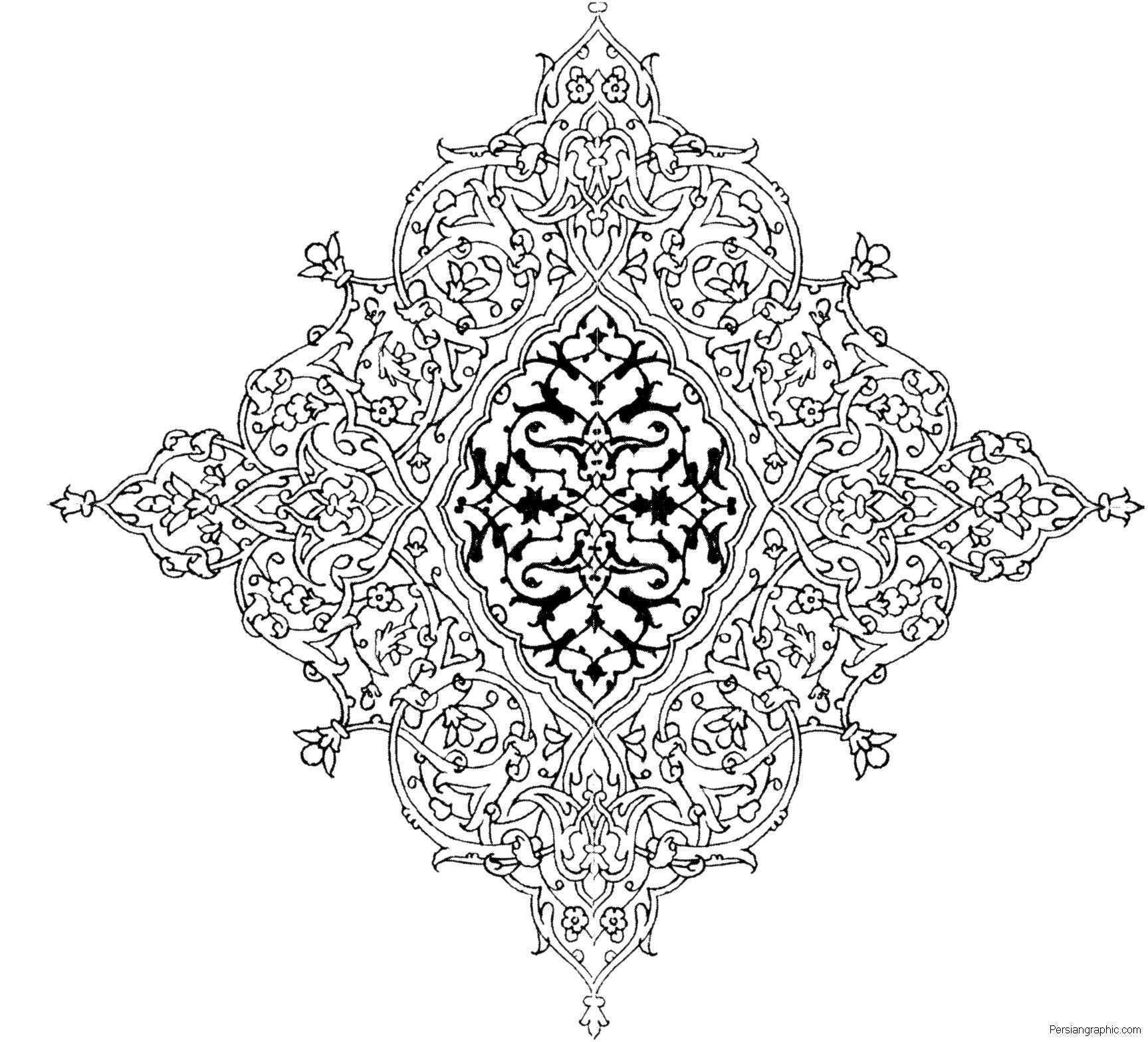 Eslimi 25 20091020 1129884660 Jpg 1727 1567 Islamische Muster Ornamente Ausmalbilder