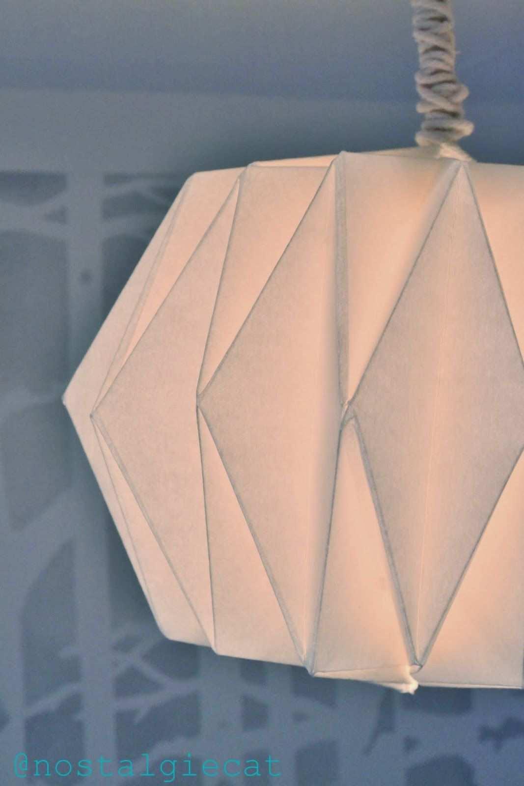 Nostalgiecat Diy Origami Paper Lampshade Lampenschirm Basteln Origami Lampenschirm Lampenschirm Papier