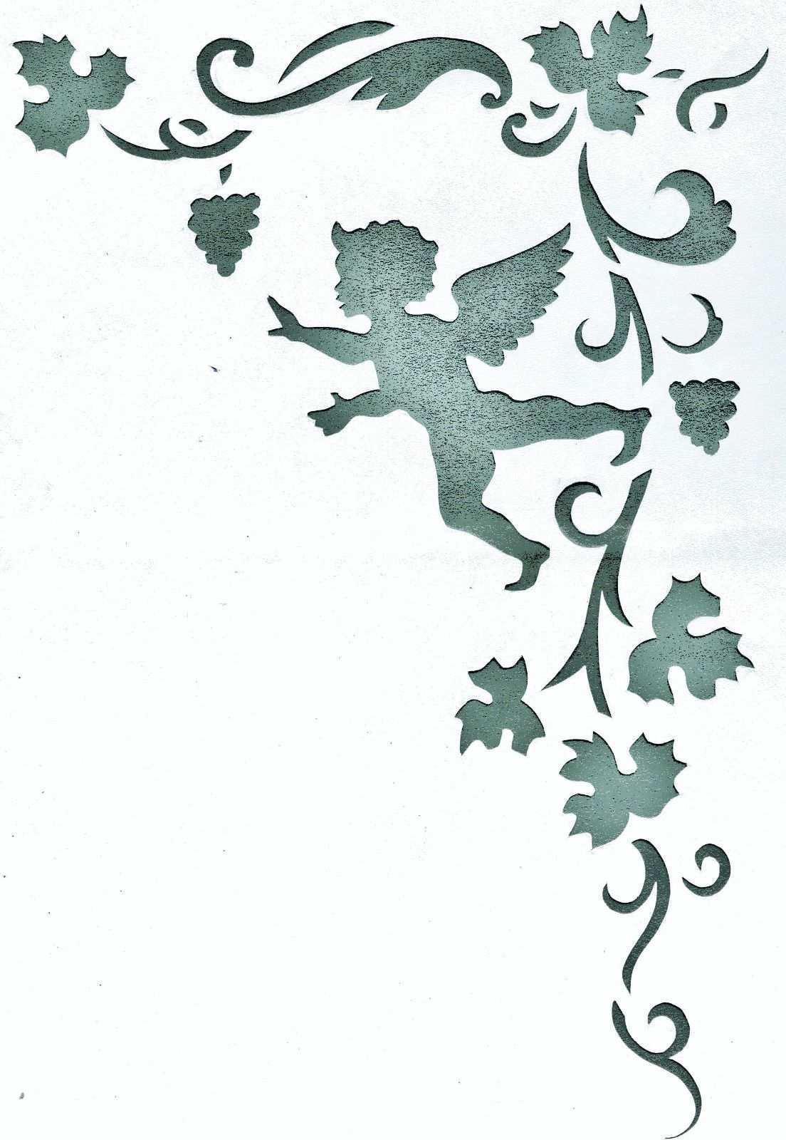 Wandschablonen Schablone Wandtattoo Ornament Engel Wandschablonen Schablonen Bucher Falten Vorlage