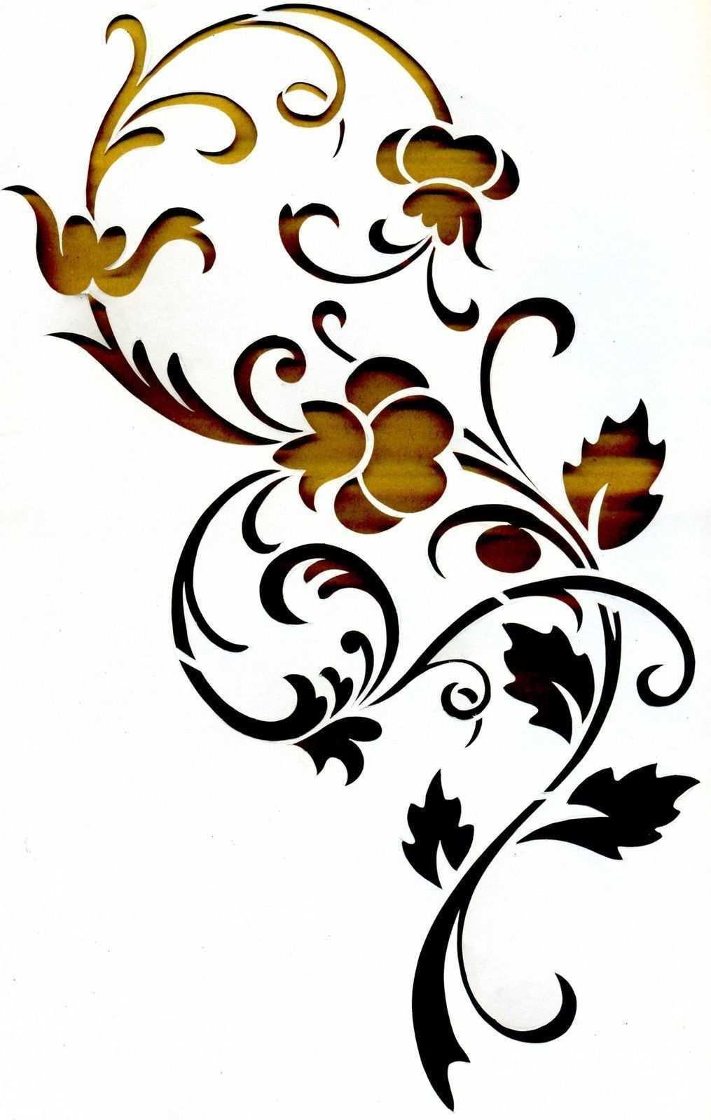 Wandschablonen Schablone Wandtattoo Ornament Stencil Painting Stencil Art Fabric Painting