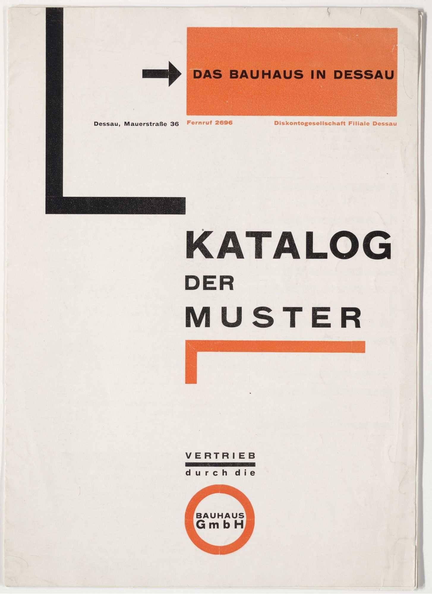 Herbert Bayer Das Bauhaus In Dessau Katalog Der Muster The Bauhaus In Dessau Catalogue Of Samples 1925 Herbert Bayer Bauhaus Catalog Cover Design
